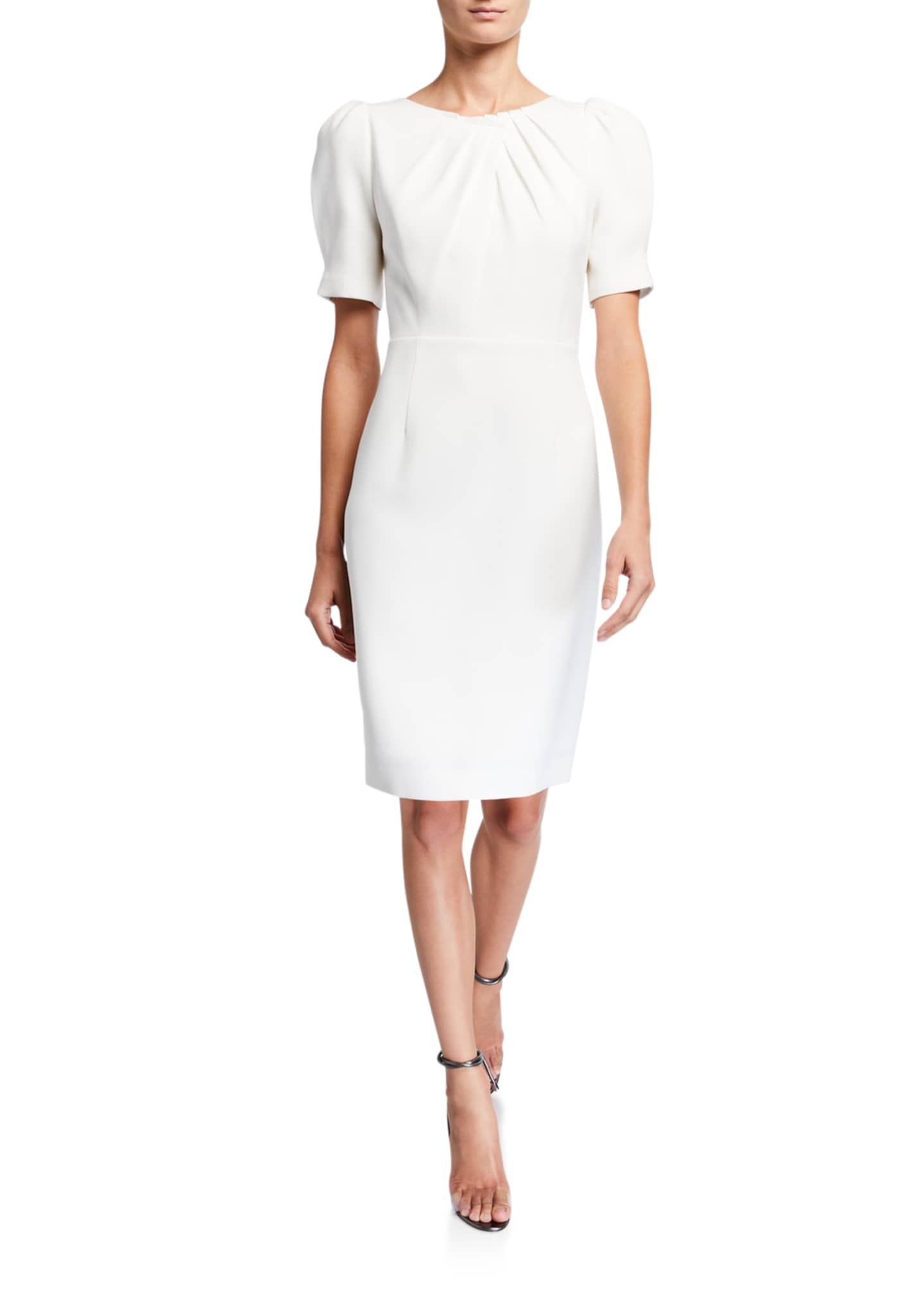 Elie Tahari Delphine Short-Sleeve Sheath Dress