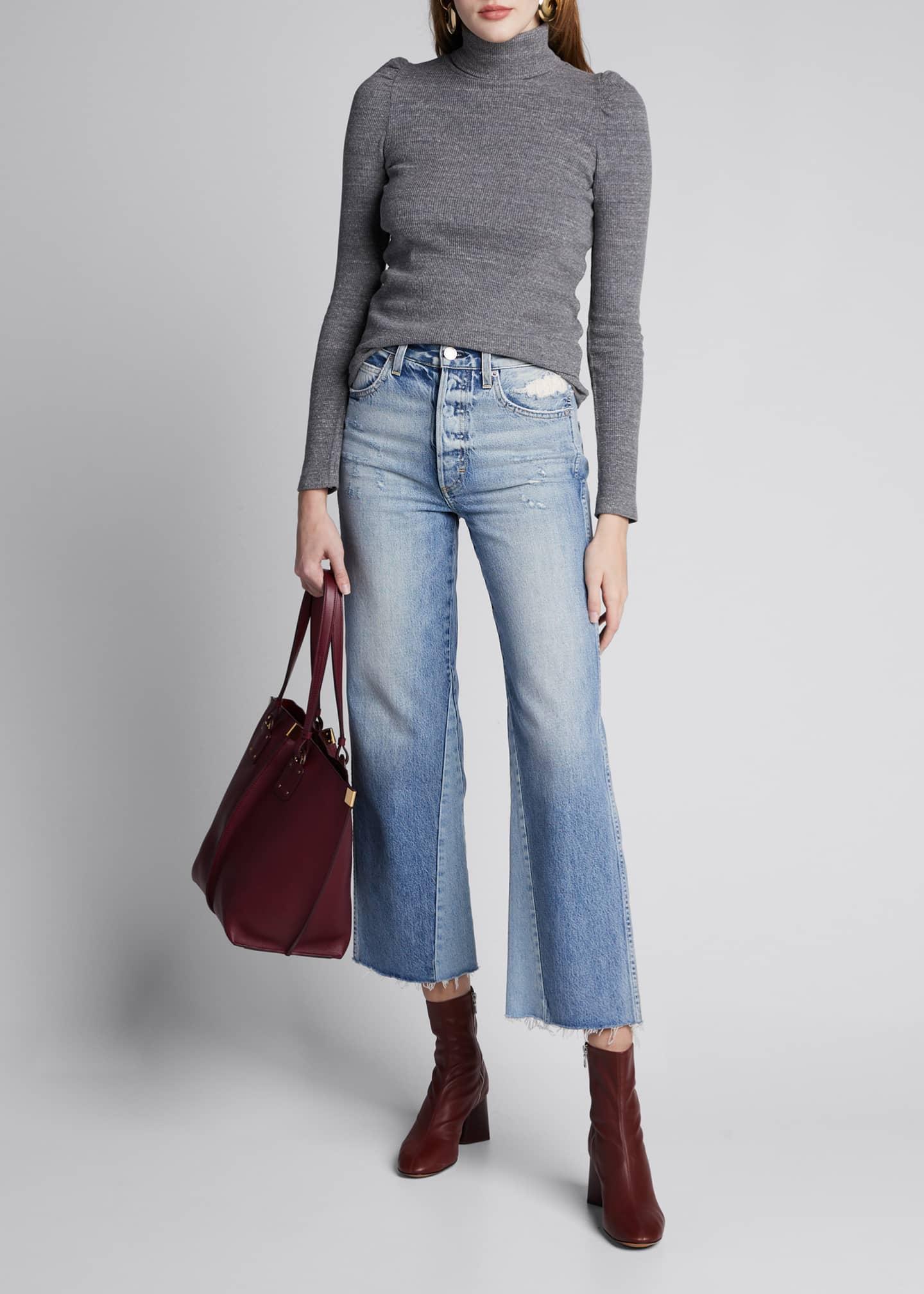 AMO Denim DIY Wide-Leg High-Rise Relaxed Crop Jeans