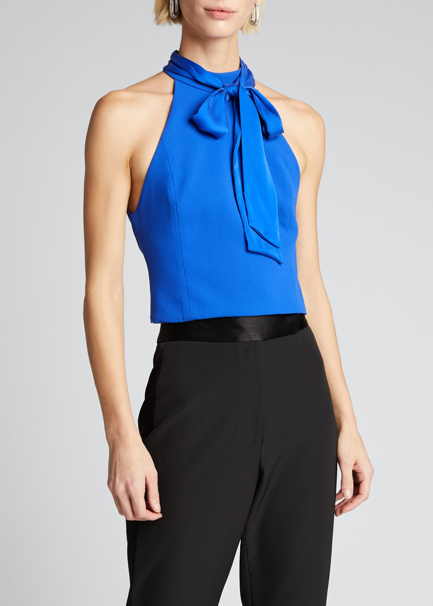 Image 3 of 5: Minna Bow-Neck Crop Top