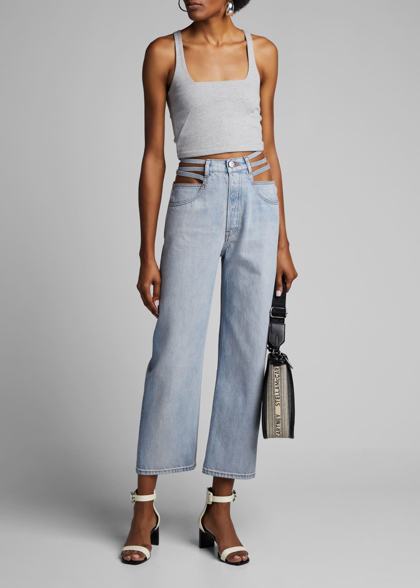 3x1 Willow Waist-Cutout Wide-Leg Jeans