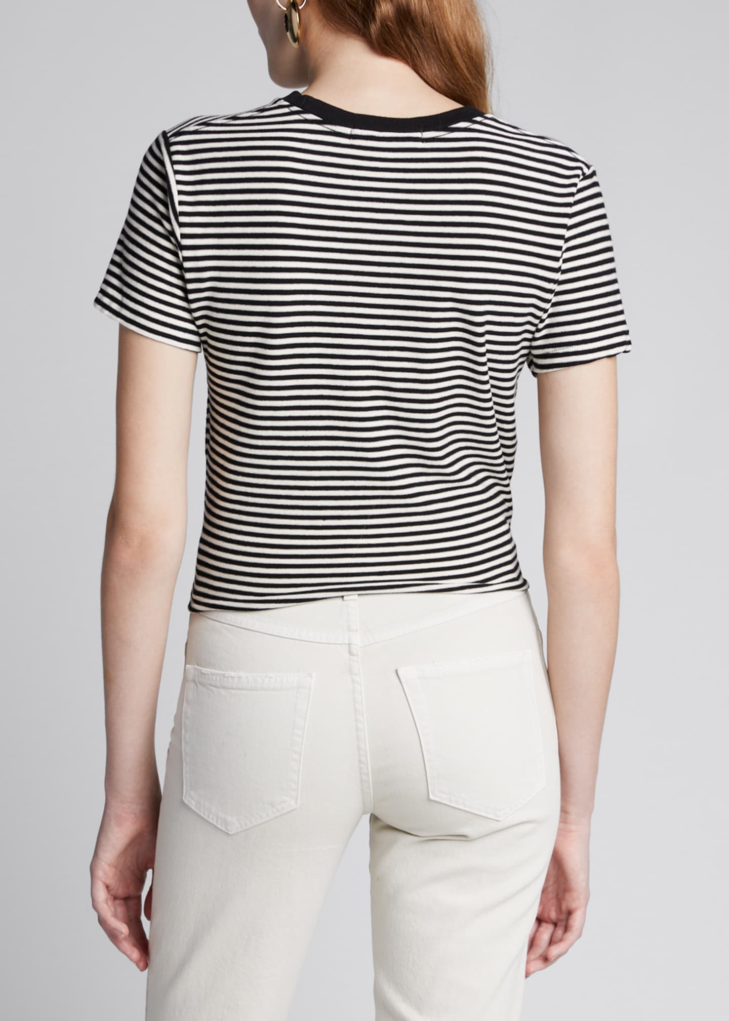 Image 2 of 5: The Waist Striped Tie-Front Tee