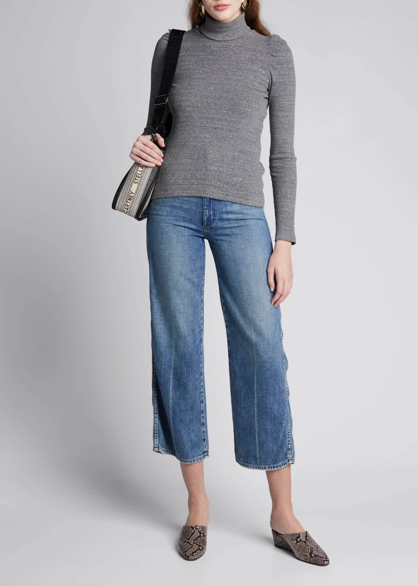 AMO Denim Ava Crop High-Rise Wide-Leg Jeans