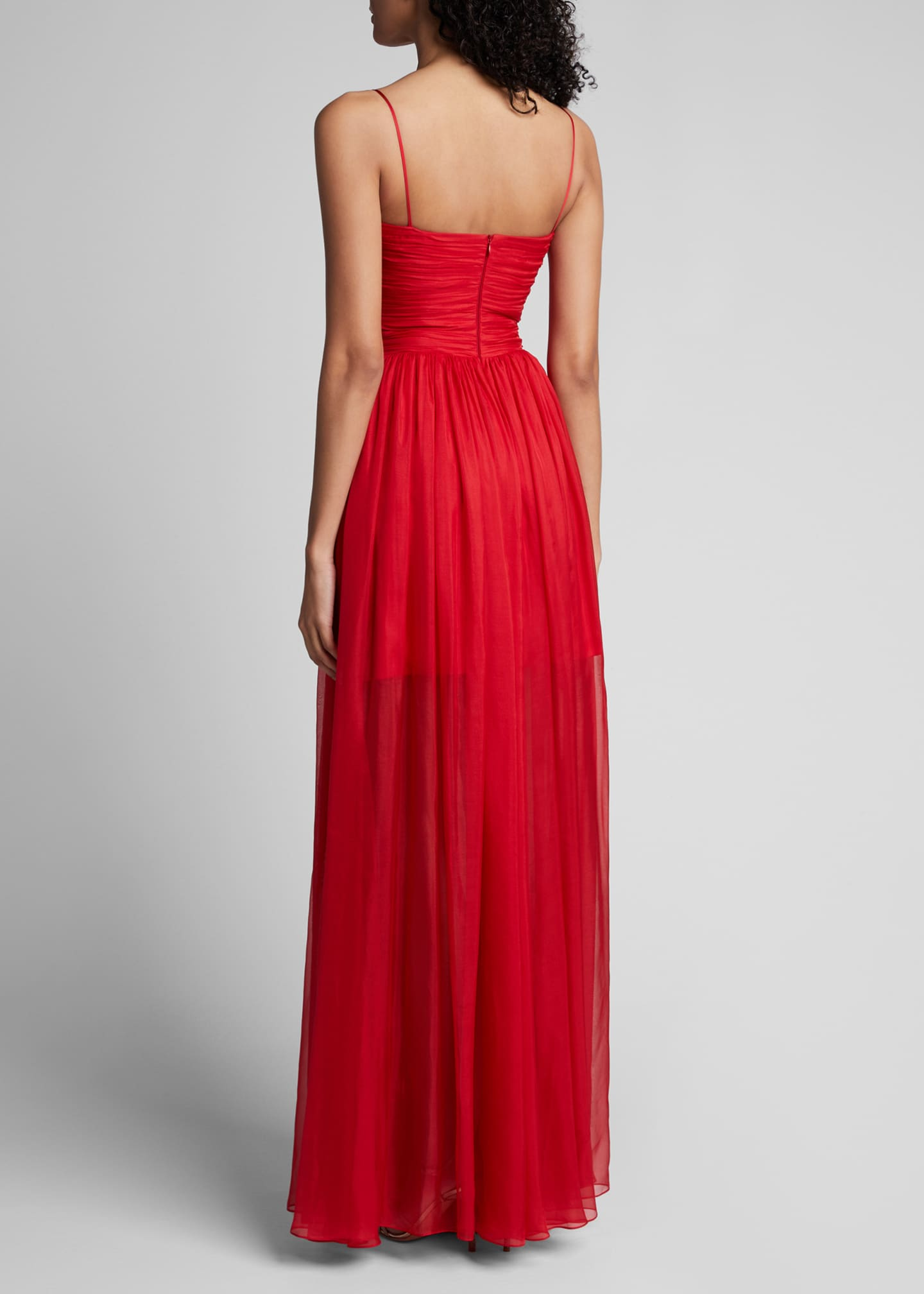 Image 2 of 5: Chiffon Strapless Draped Gown