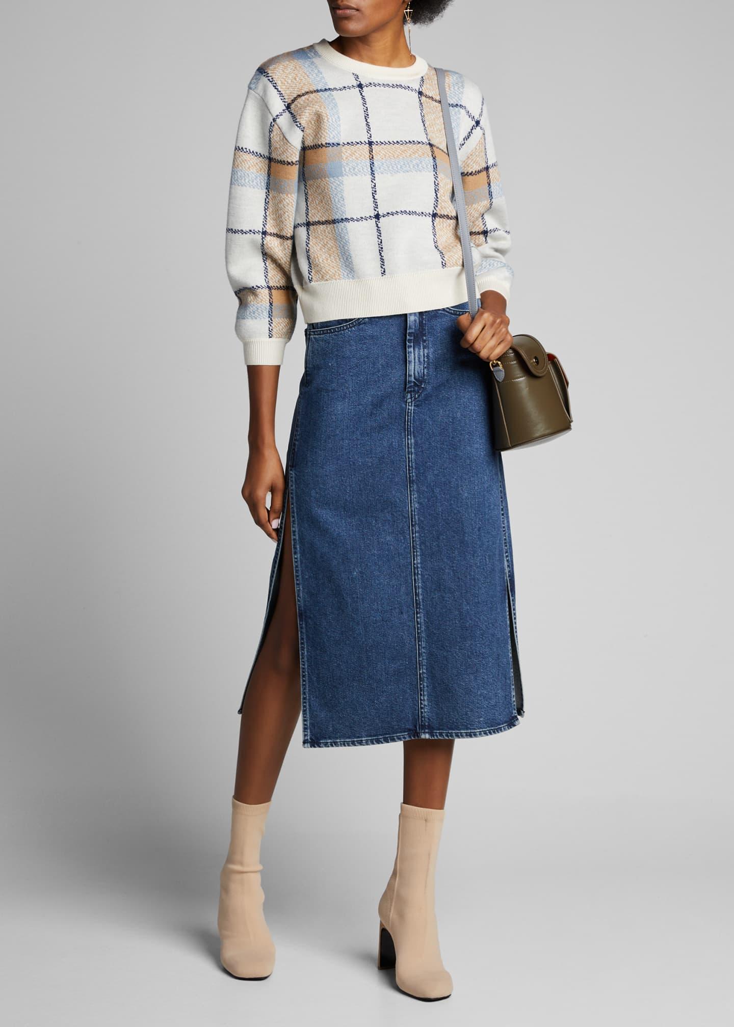 3x1 Cami Side-Split Denim Skirt