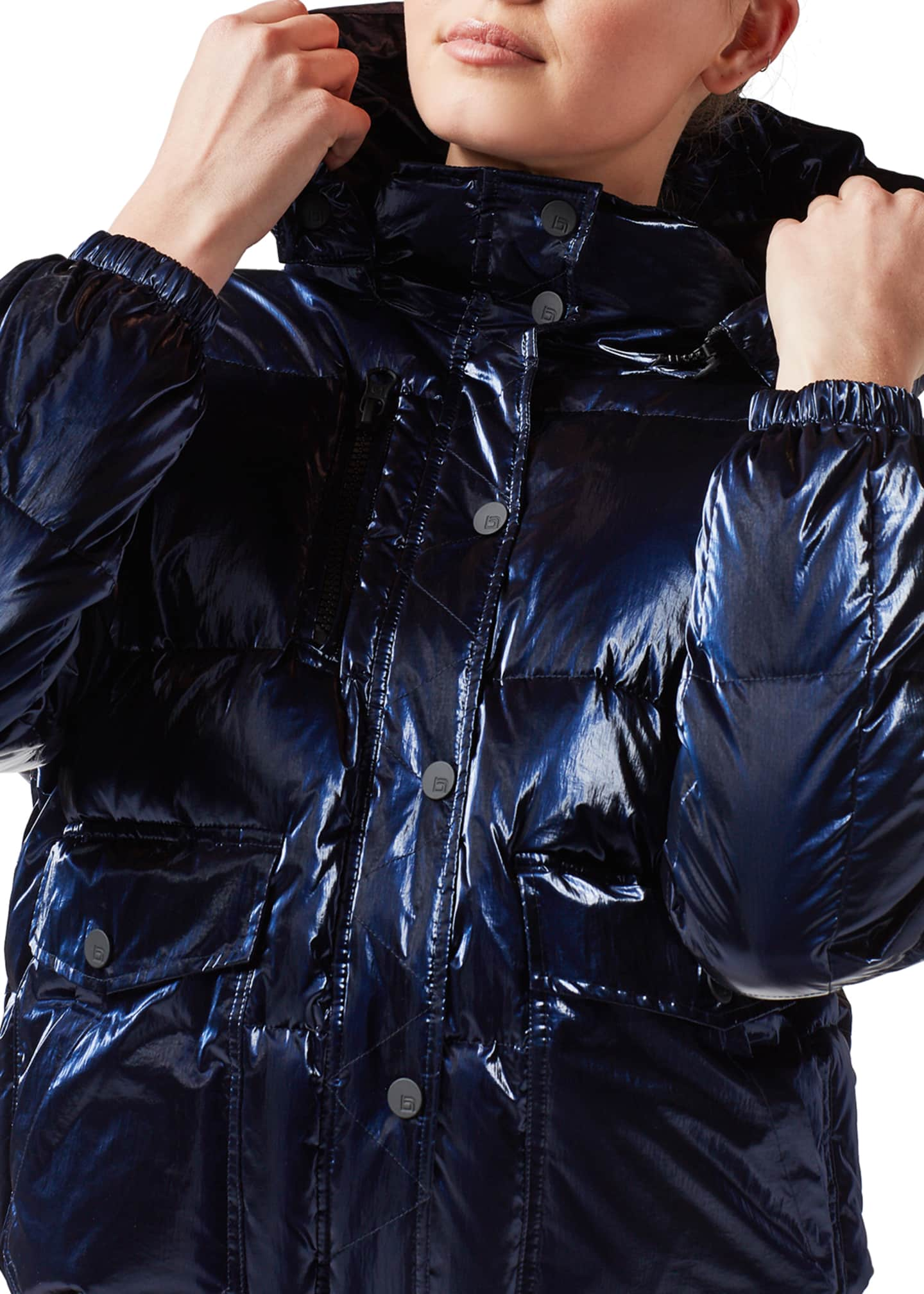 Image 4 of 4: Mont Blanc Hooded Puffer Jacket