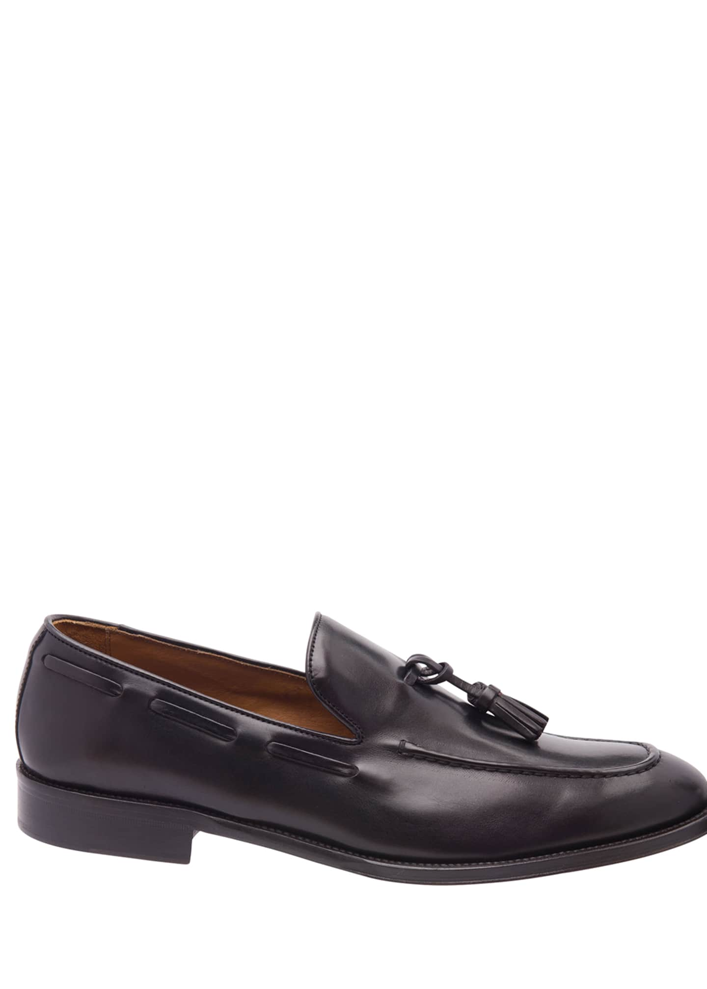 Image 3 of 5: Men's Alfio Leather Tassel Loafers