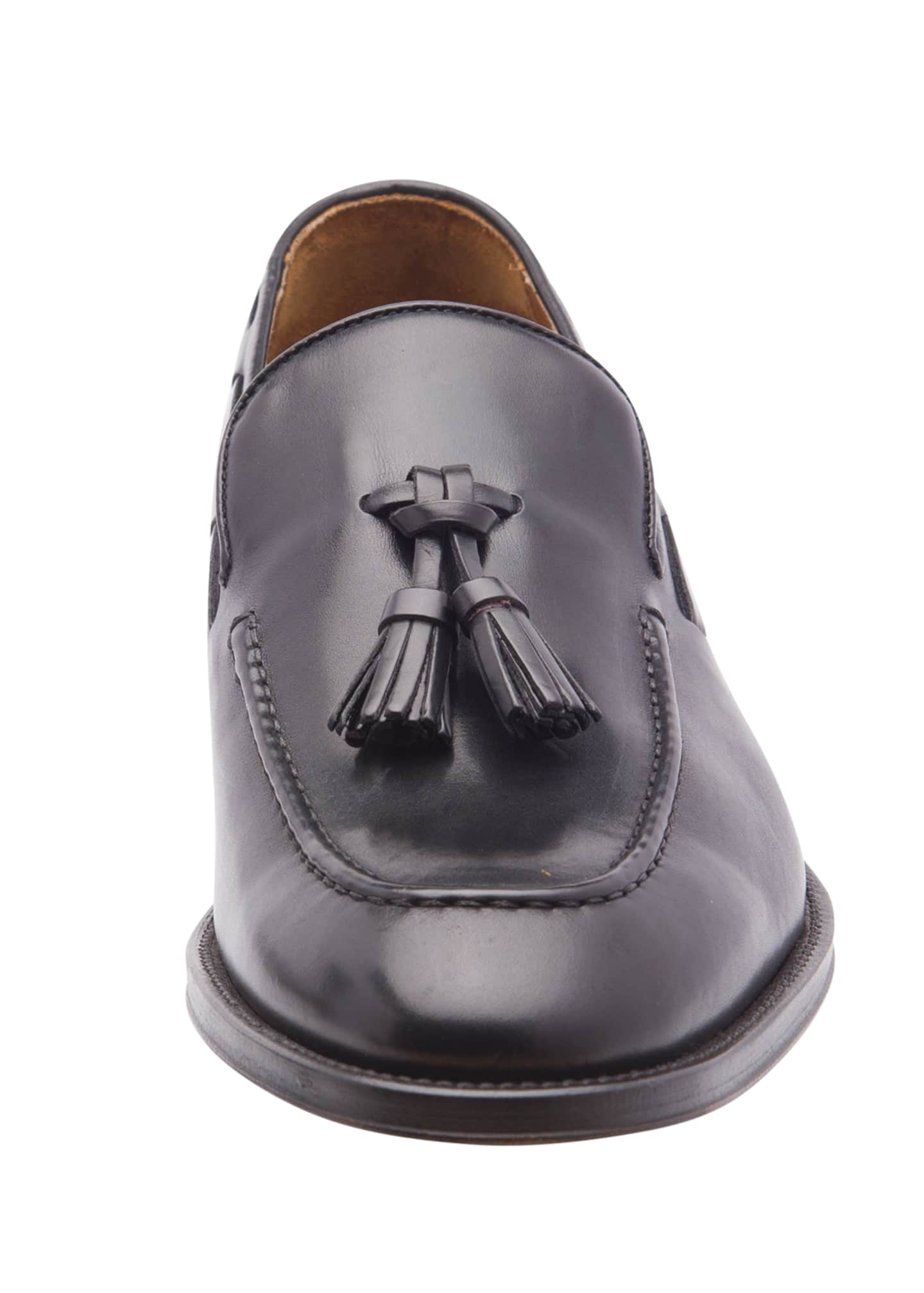 Image 4 of 5: Men's Alfio Leather Tassel Loafers