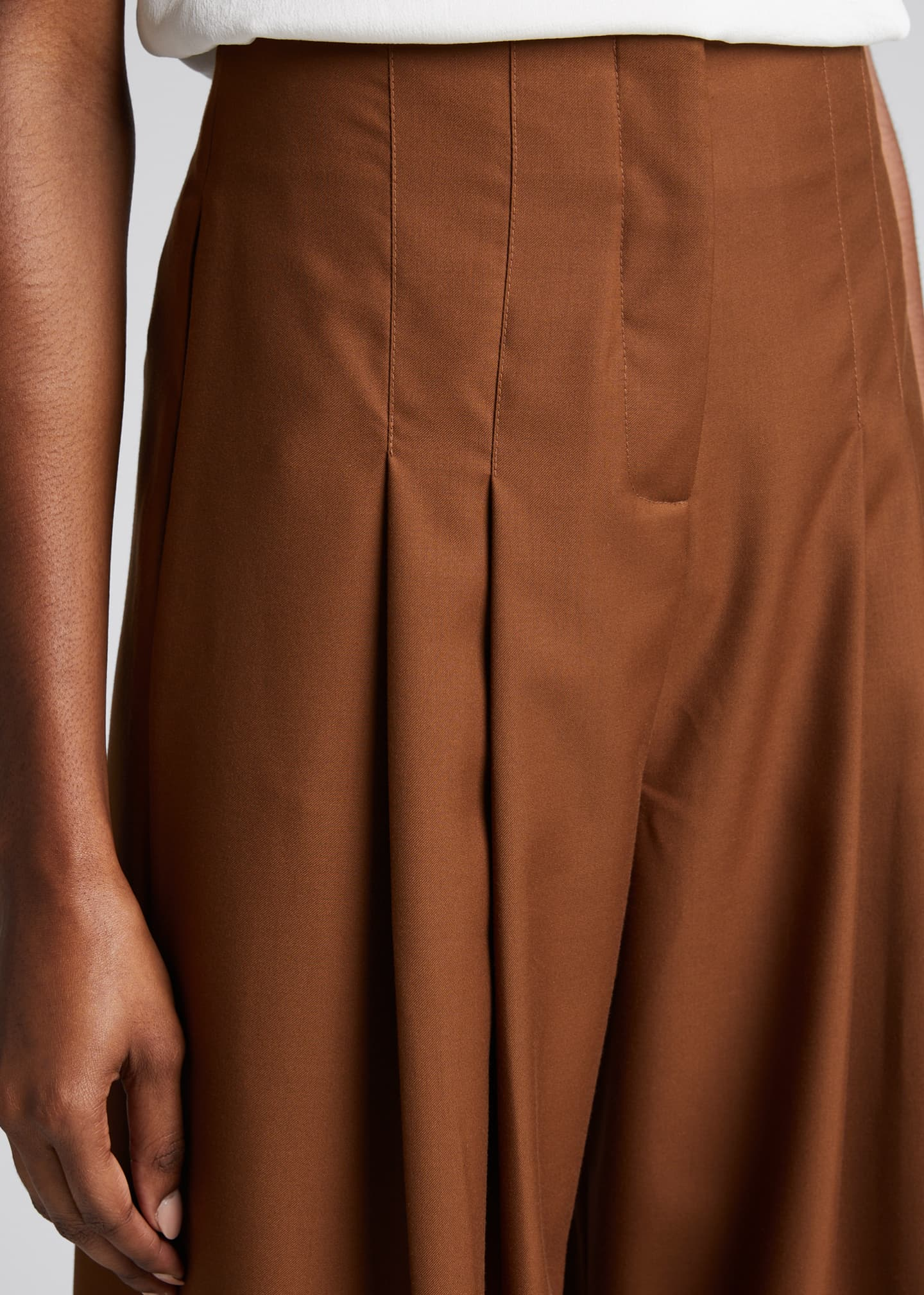 Image 4 of 5: Marcel Pleated Wide-Leg Pants