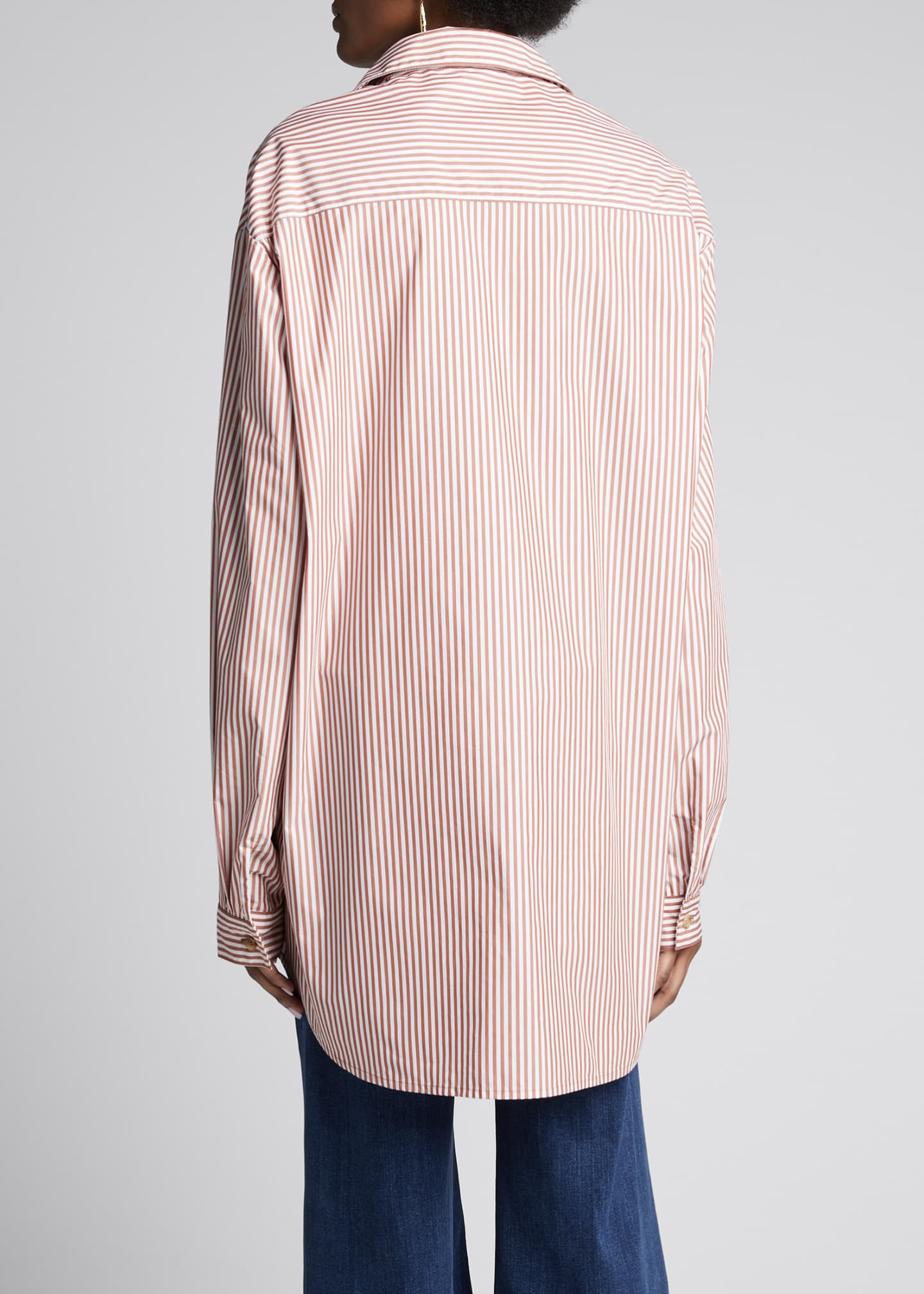 Image 2 of 5: Alfie Oversized Striped Button-Down Shirt
