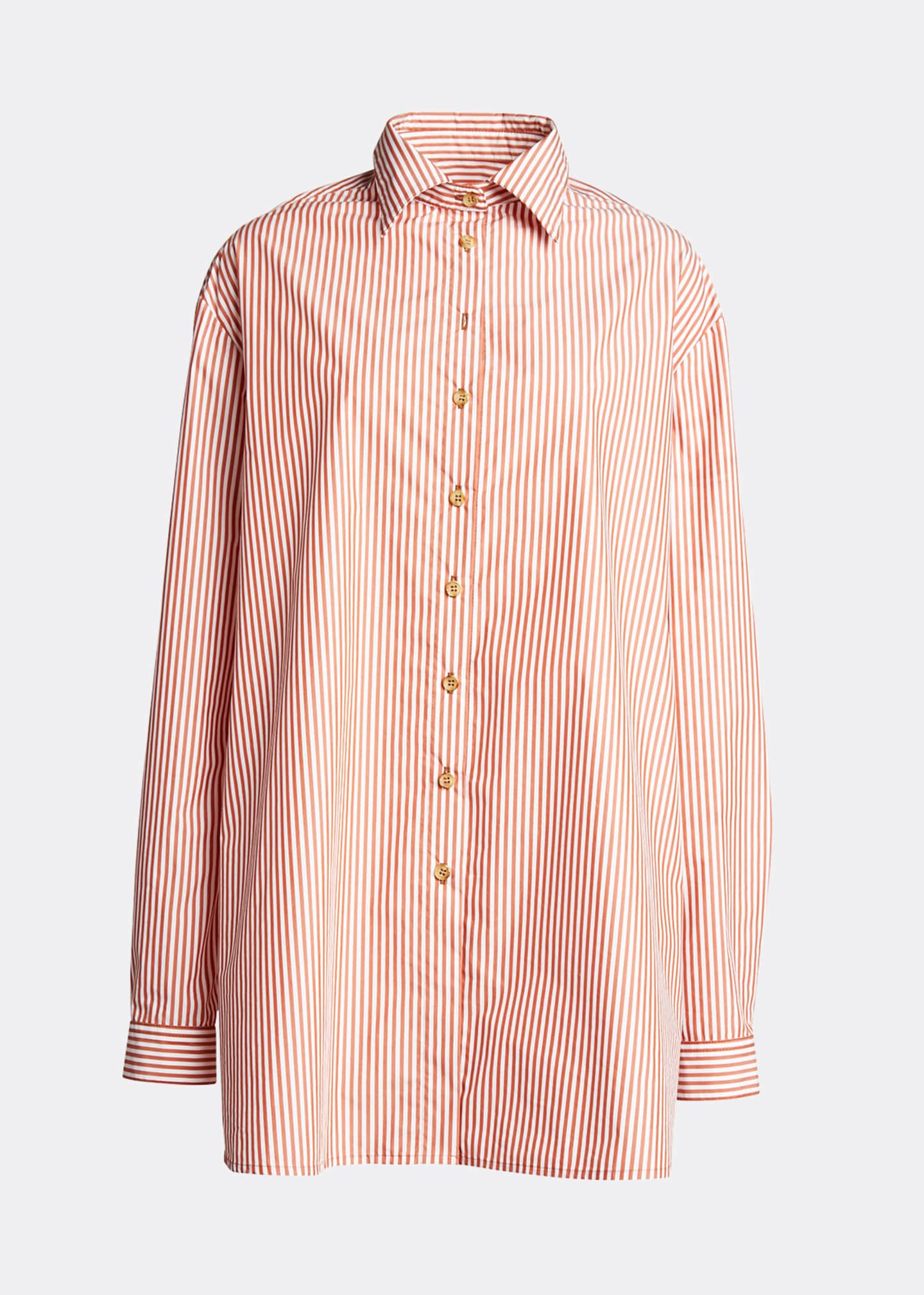 Image 5 of 5: Alfie Oversized Striped Button-Down Shirt