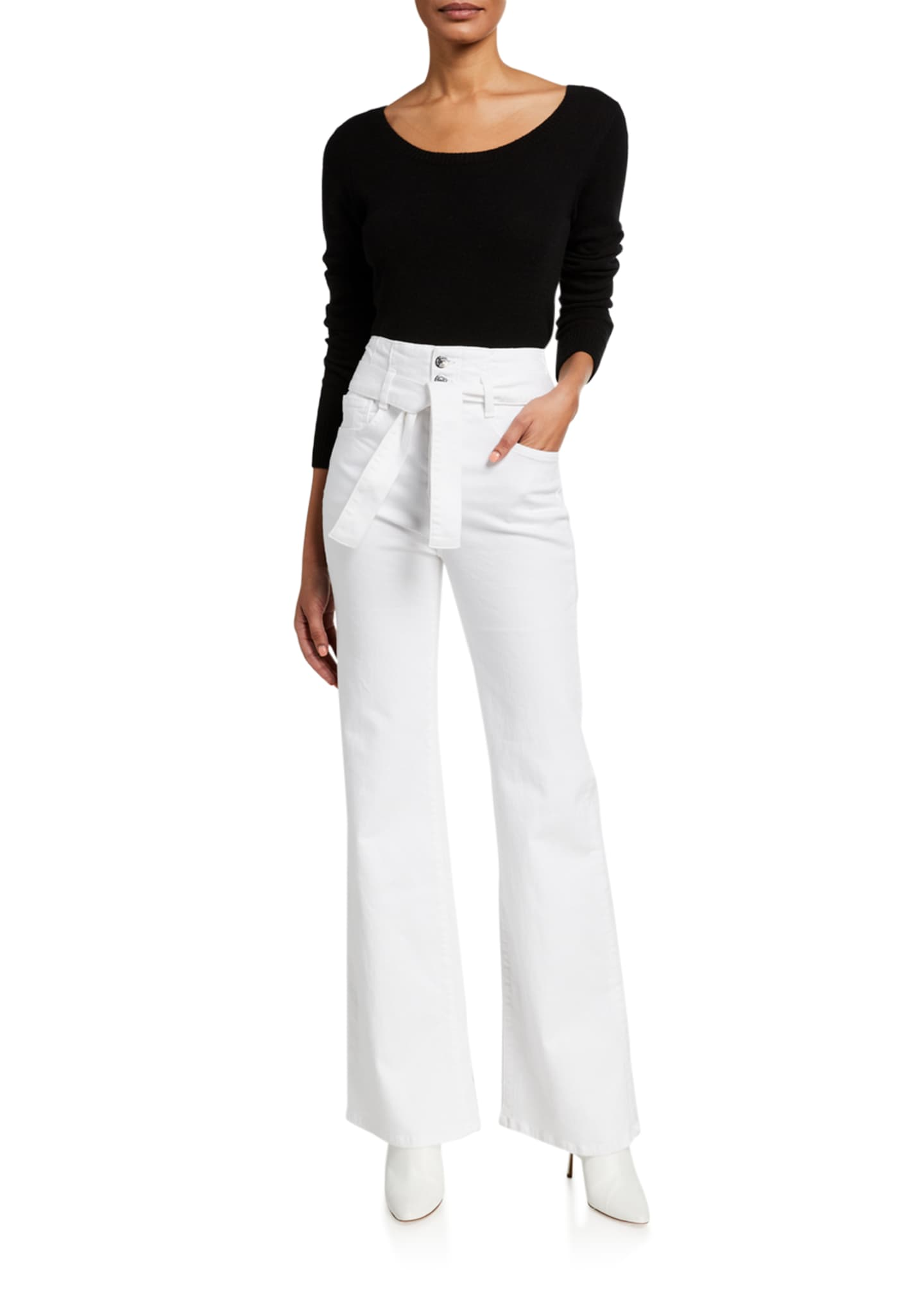 Image 3 of 3: Rosanna Belted Wide-Leg Jeans