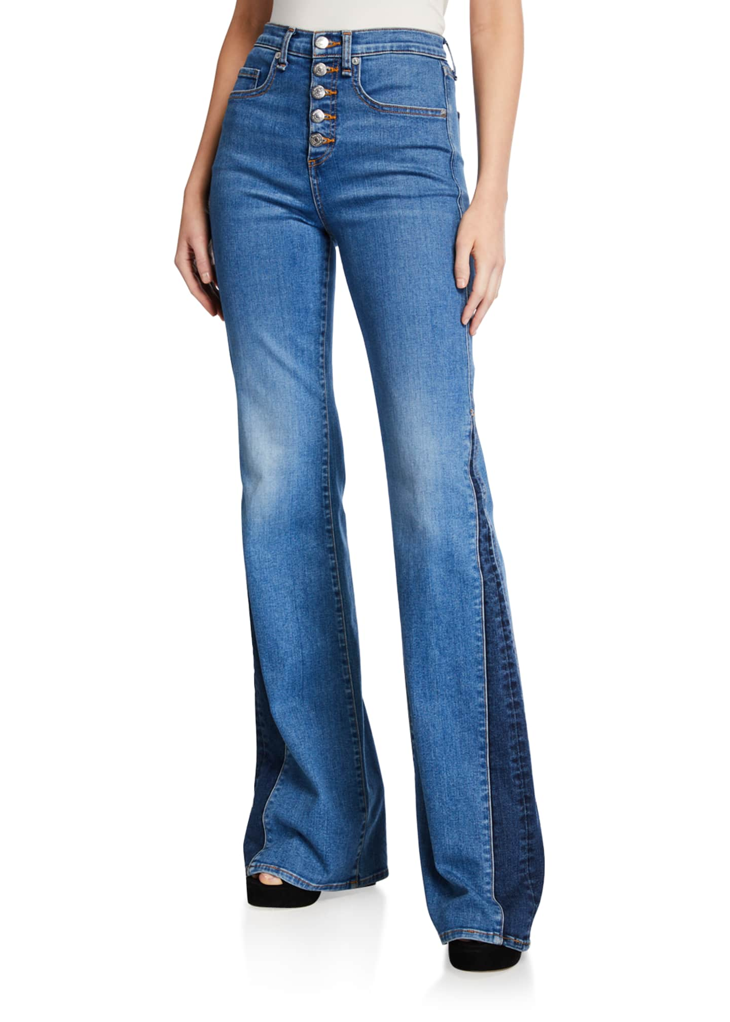 Image 1 of 3: Kiley High-Rise Wide-Leg Jeans