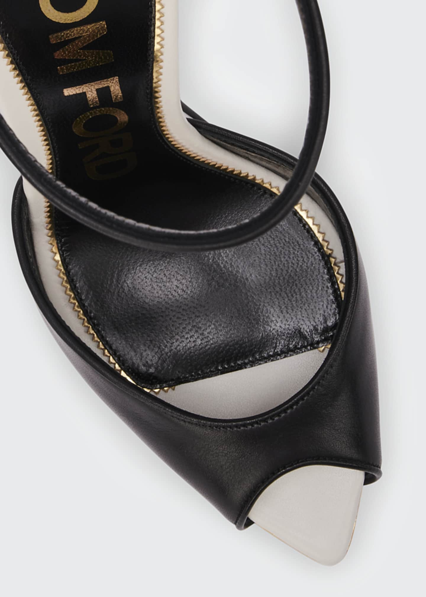 Image 4 of 4: Trompe L'oeil Wedge Sandals