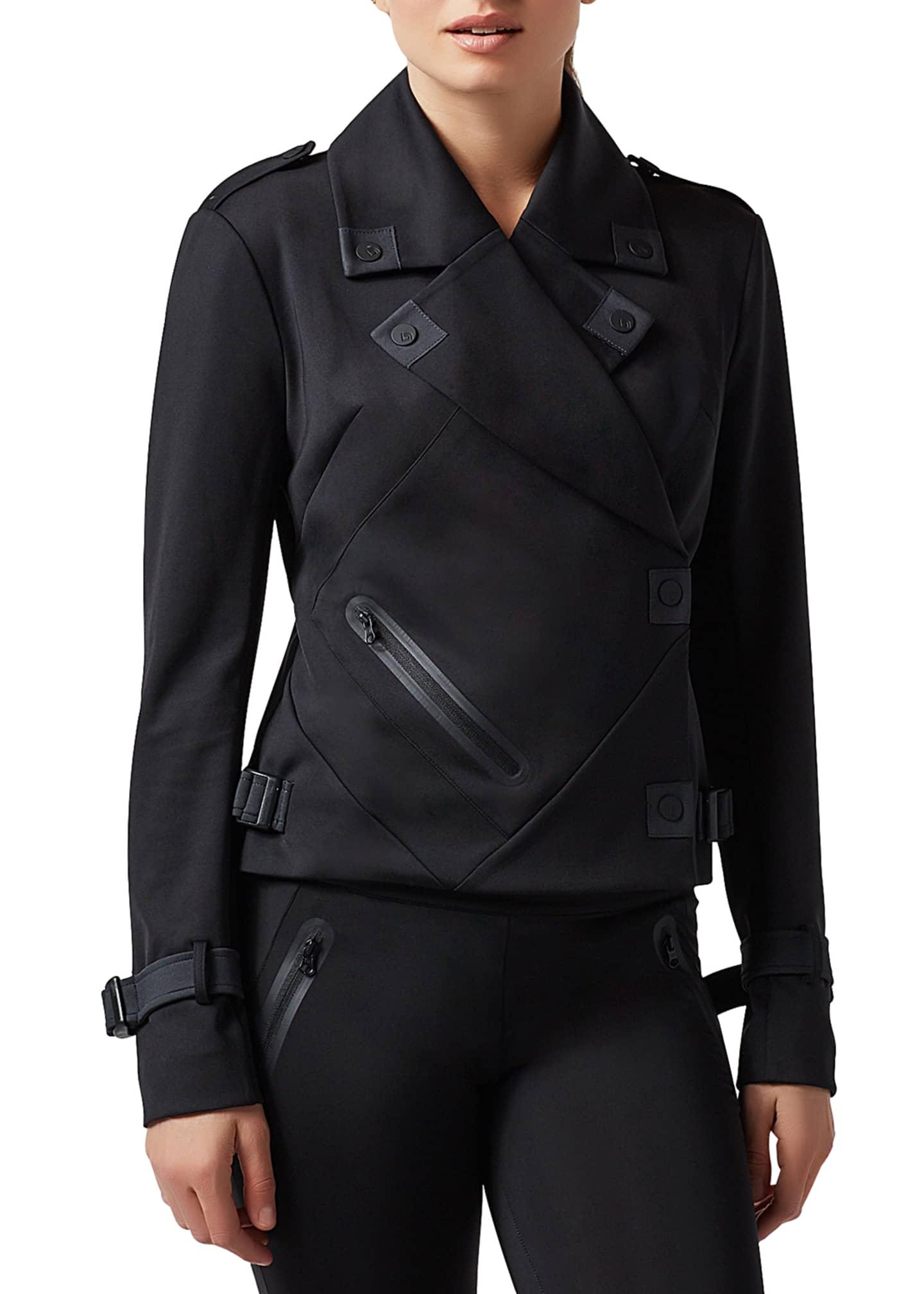 Blanc Noir Bonded Scuba Moto Jacket