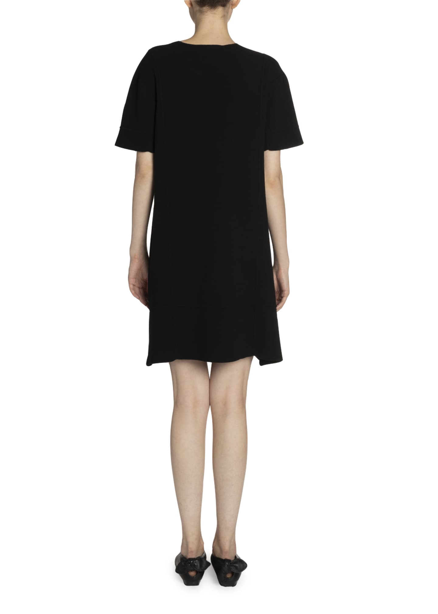Image 2 of 2: Buckle-Neck Jersey Shift Dress