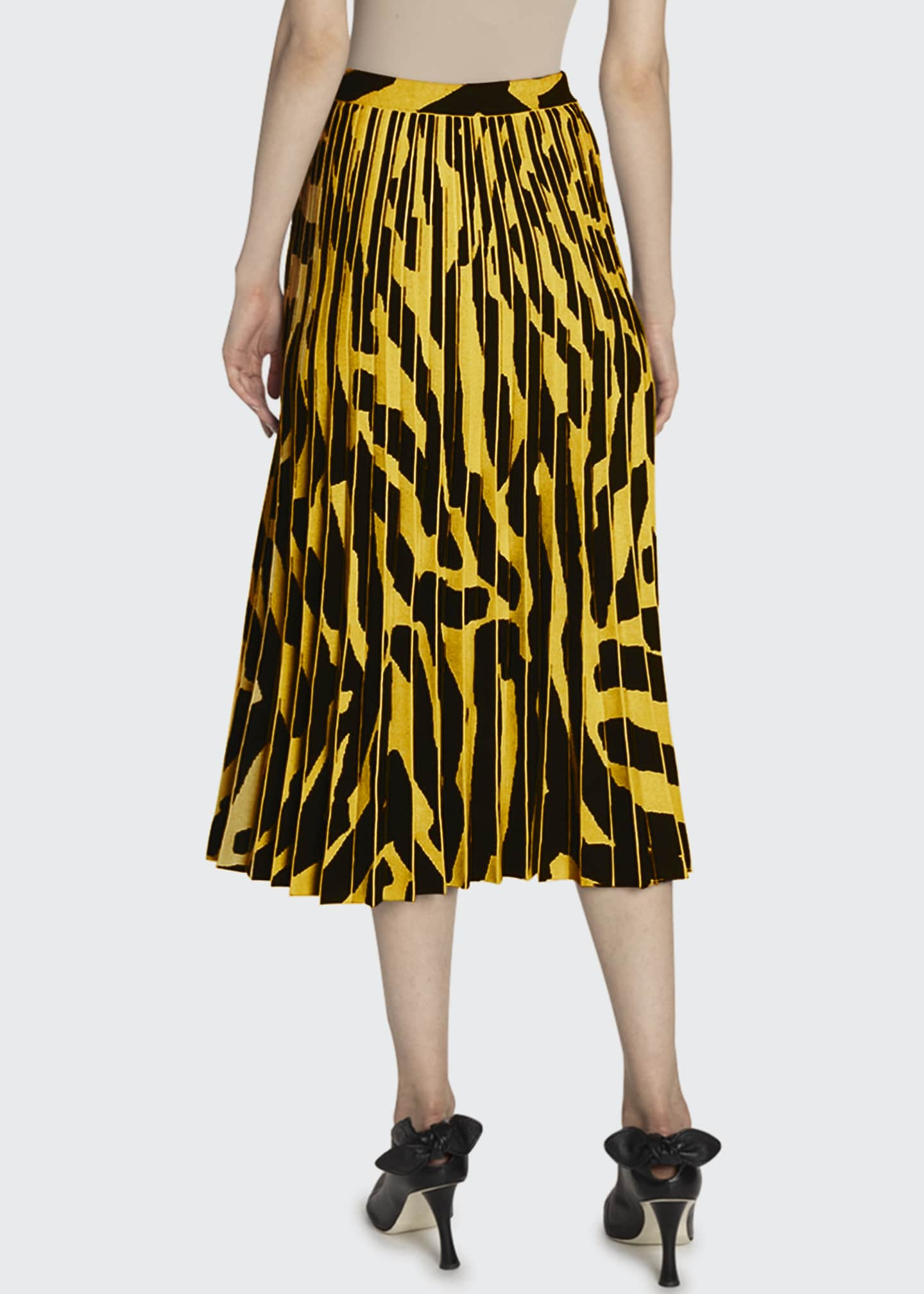 Image 2 of 2: Printed Accordion Pleated Midi Skirt
