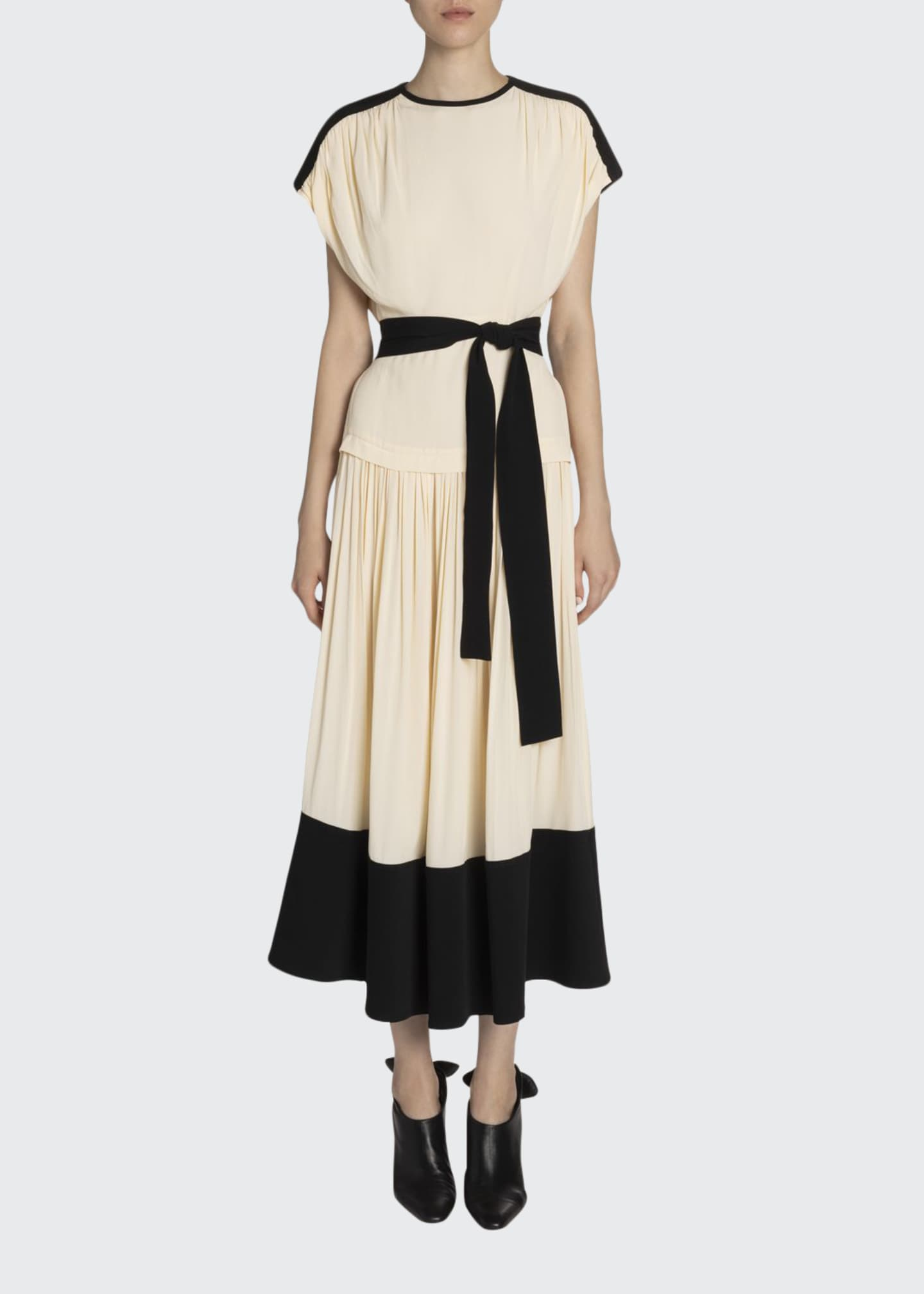Proenza Schouler Crepe Belted Maxi Dress