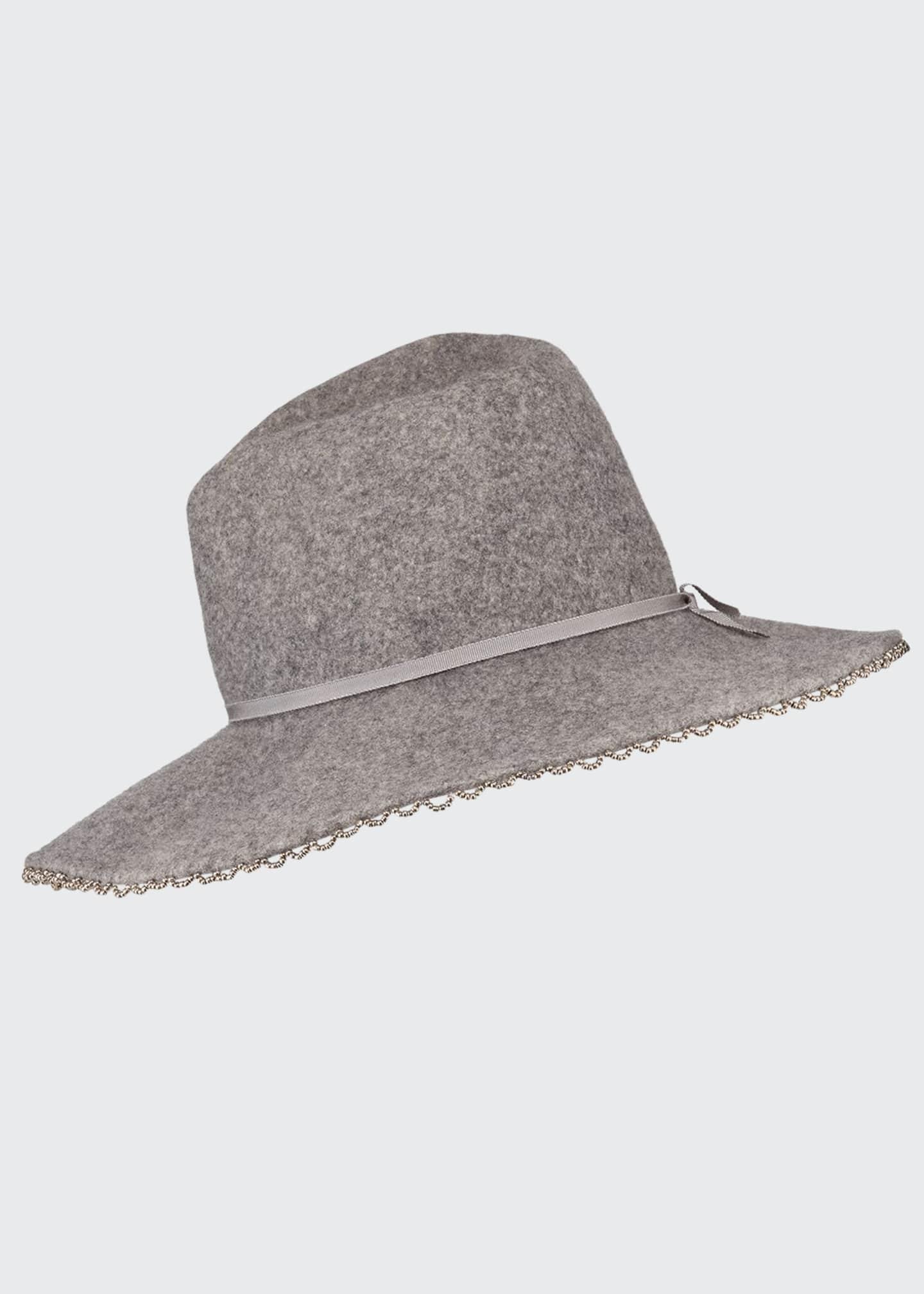 Gigi Burris Drake Wool Felt Fedora Hat w/