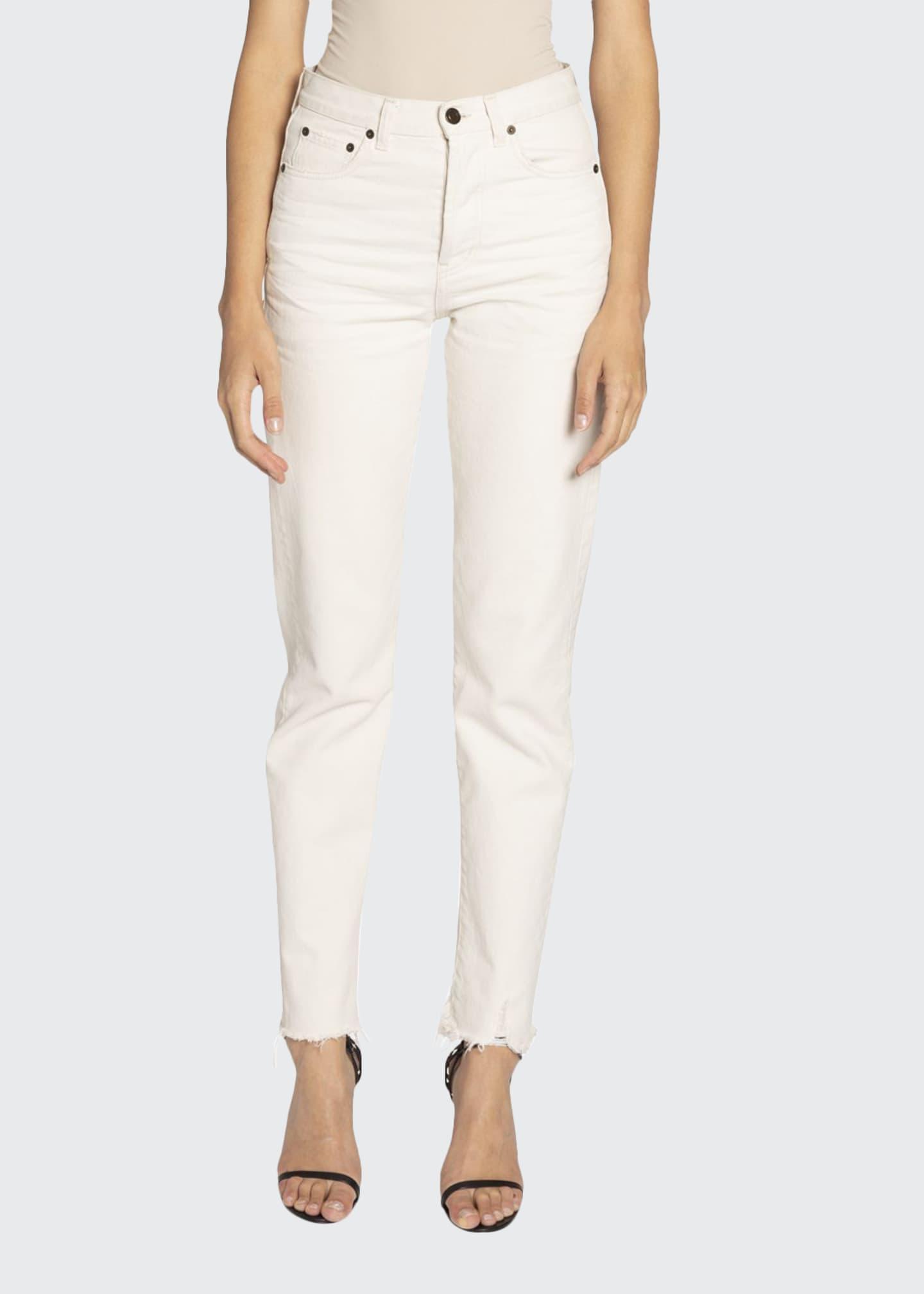 Saint Laurent Distressed Slim-Fit Jeans