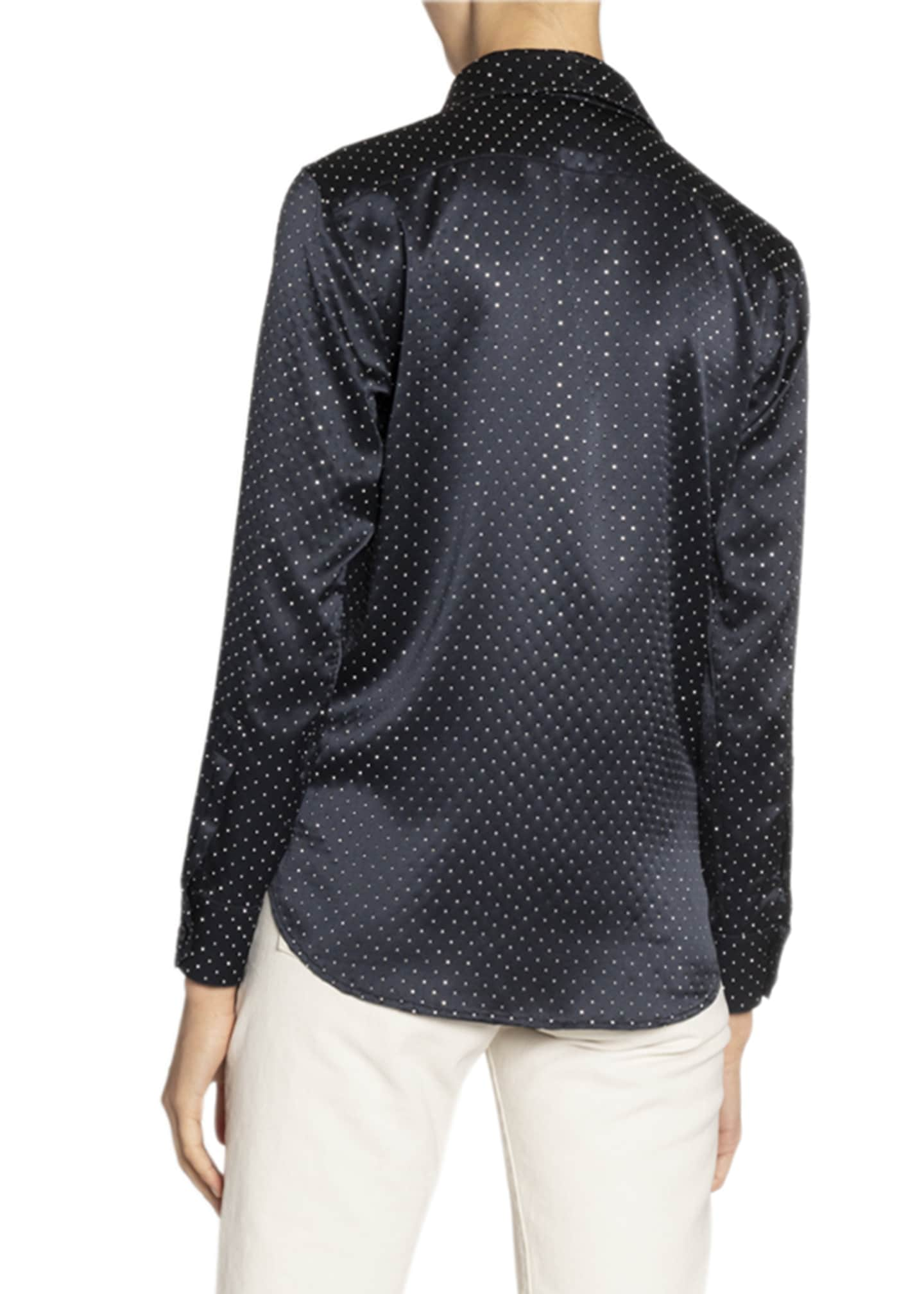 Image 2 of 2: Studded Satin Shirt