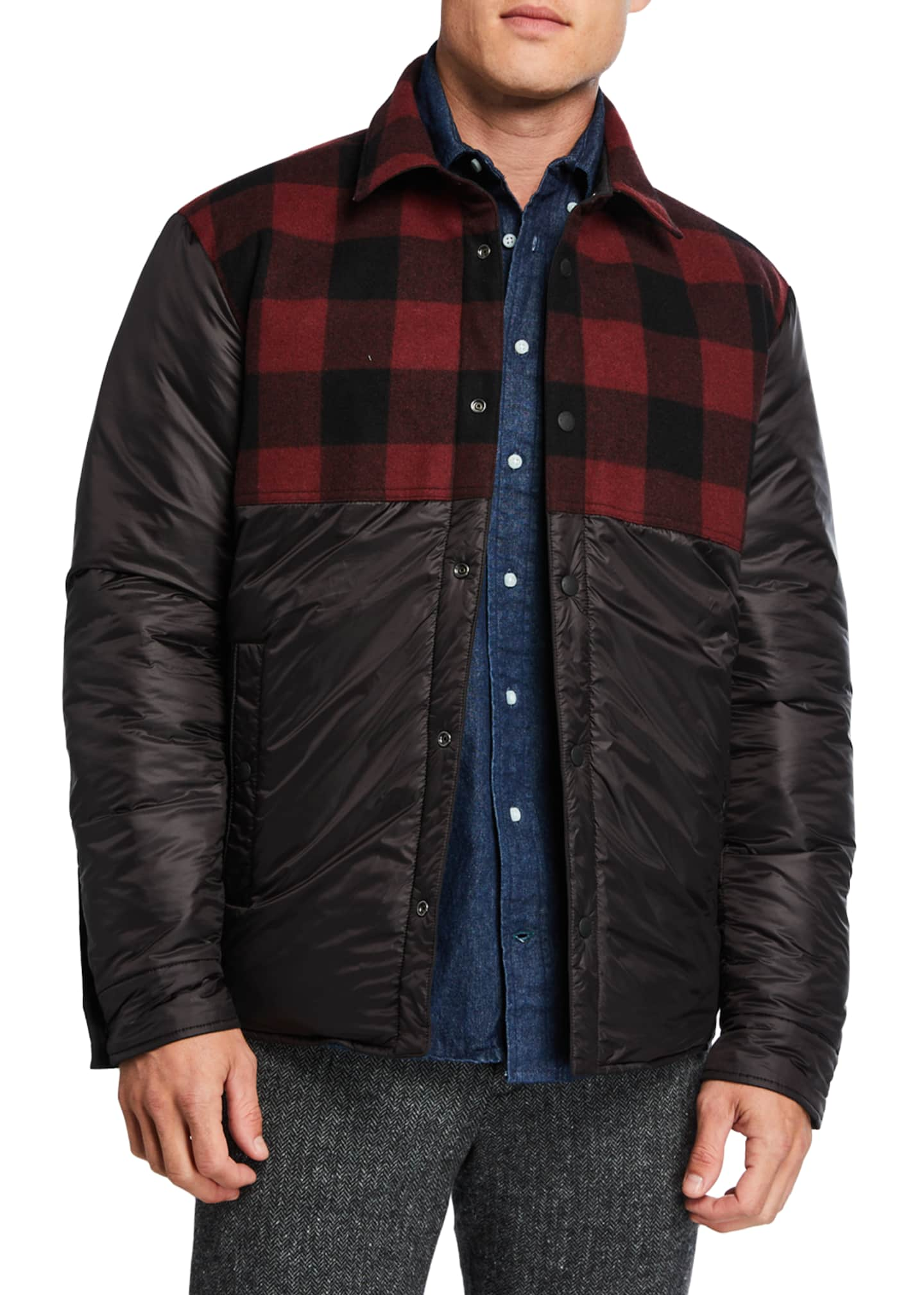 Image 2 of 4: Men's Rowland Reversible Quilted Shirt Jacket