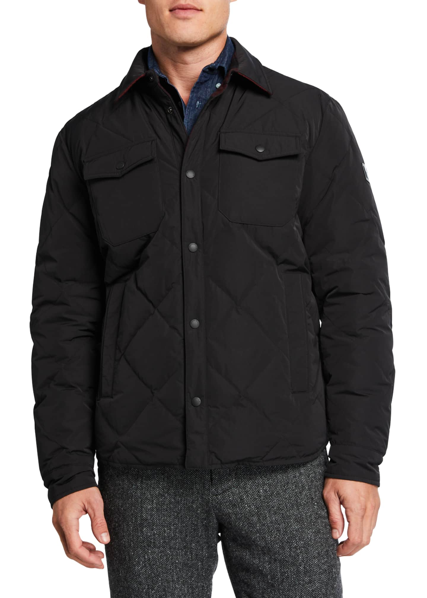 Image 3 of 4: Men's Rowland Reversible Quilted Shirt Jacket