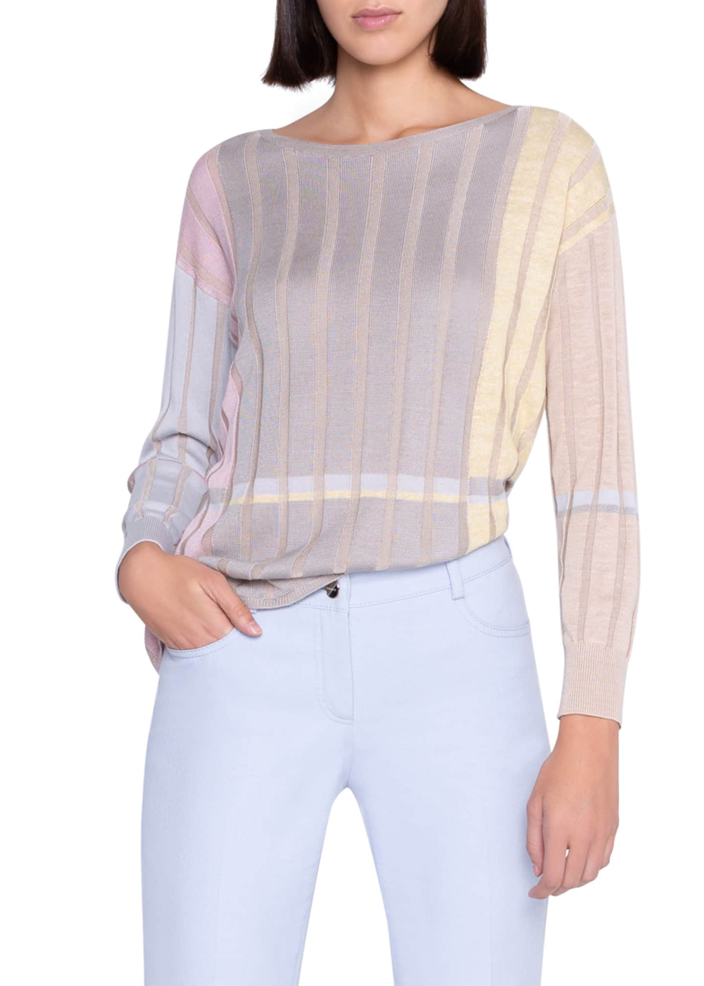 Image 3 of 3: Variazoni Silk-Linen Sweater