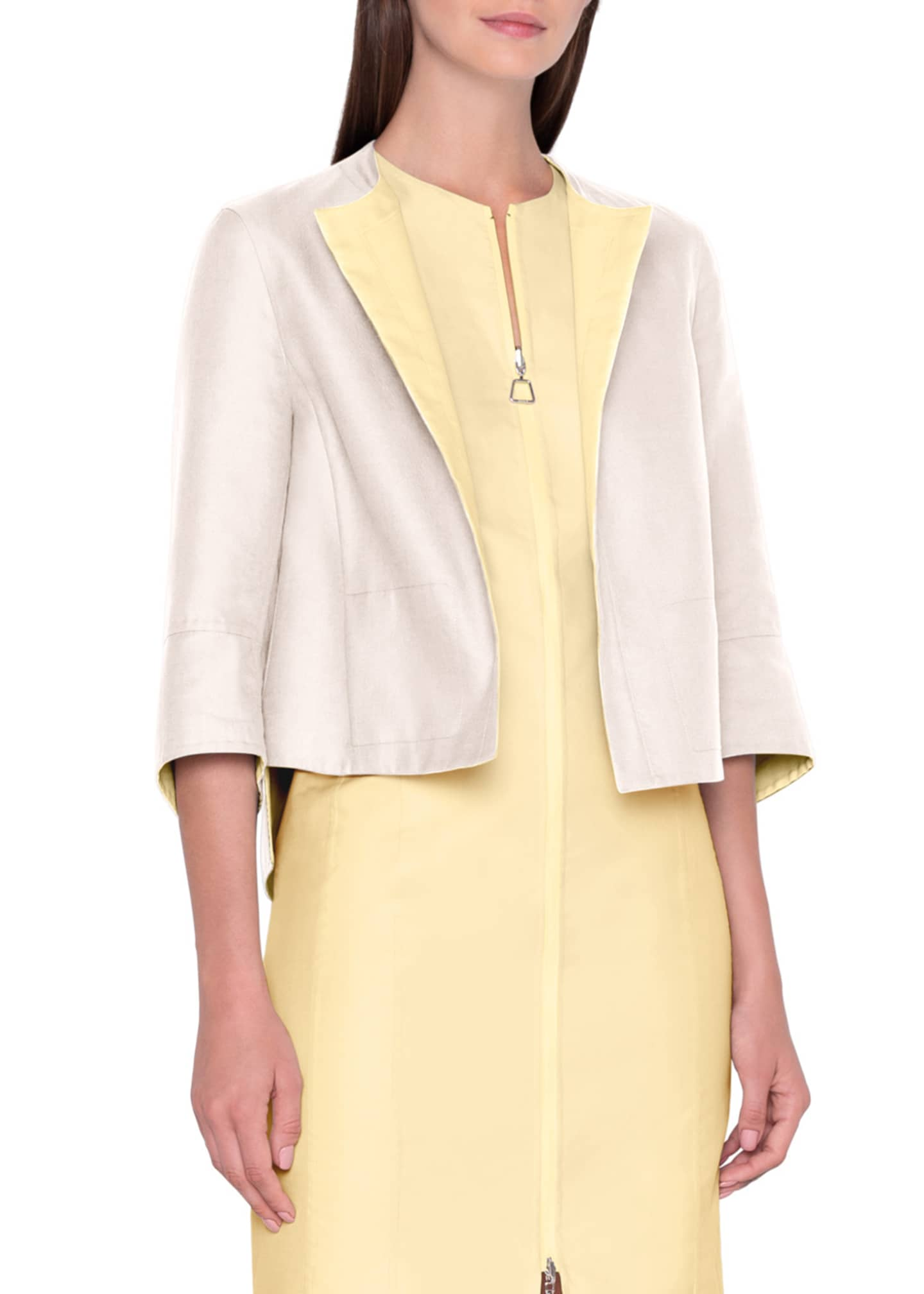 Image 2 of 4: Two-Tone Reversible Boxy Jacket