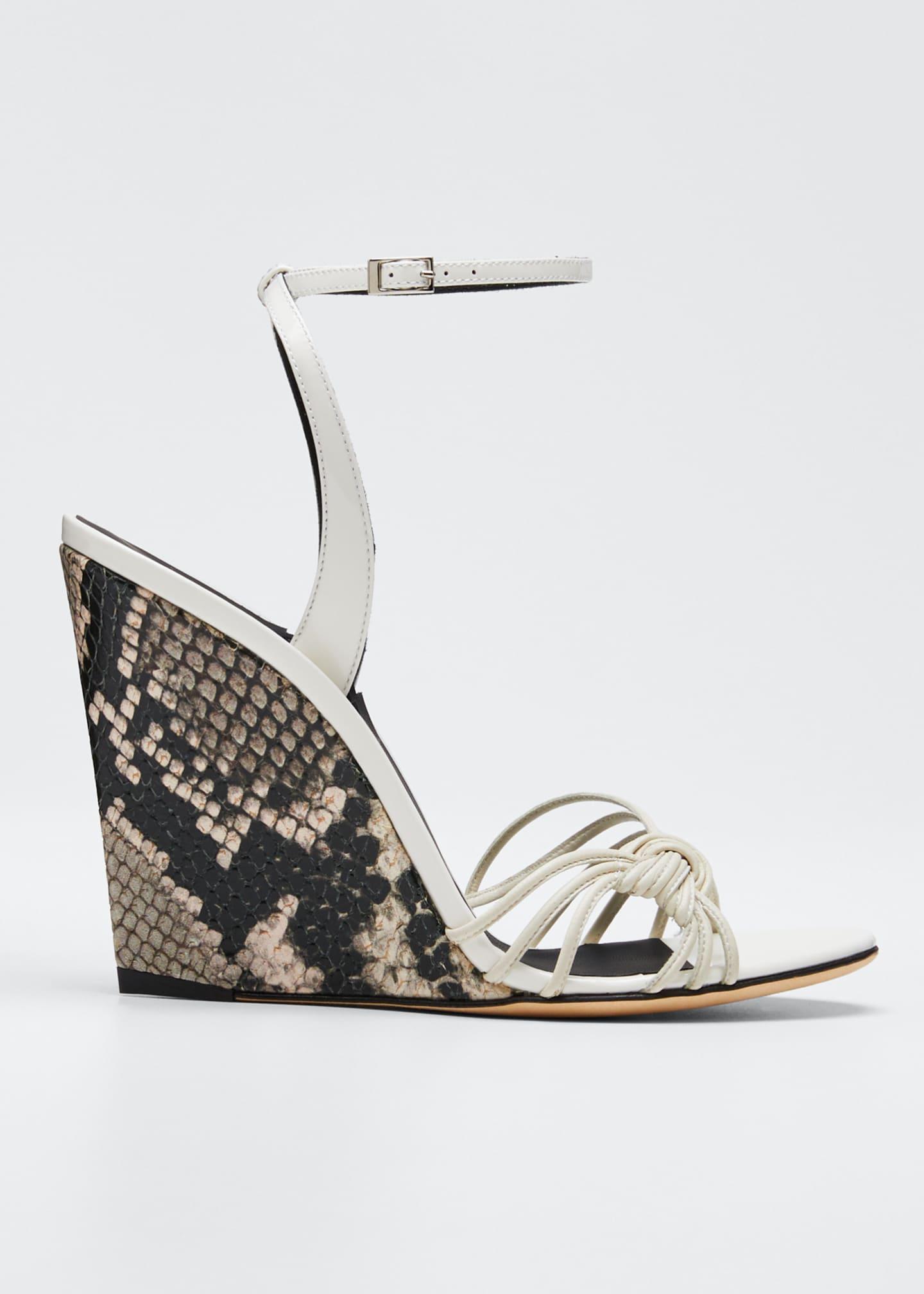 Giuseppe Zanotti 105mm Ricoperto Snake-Wedge Sandals
