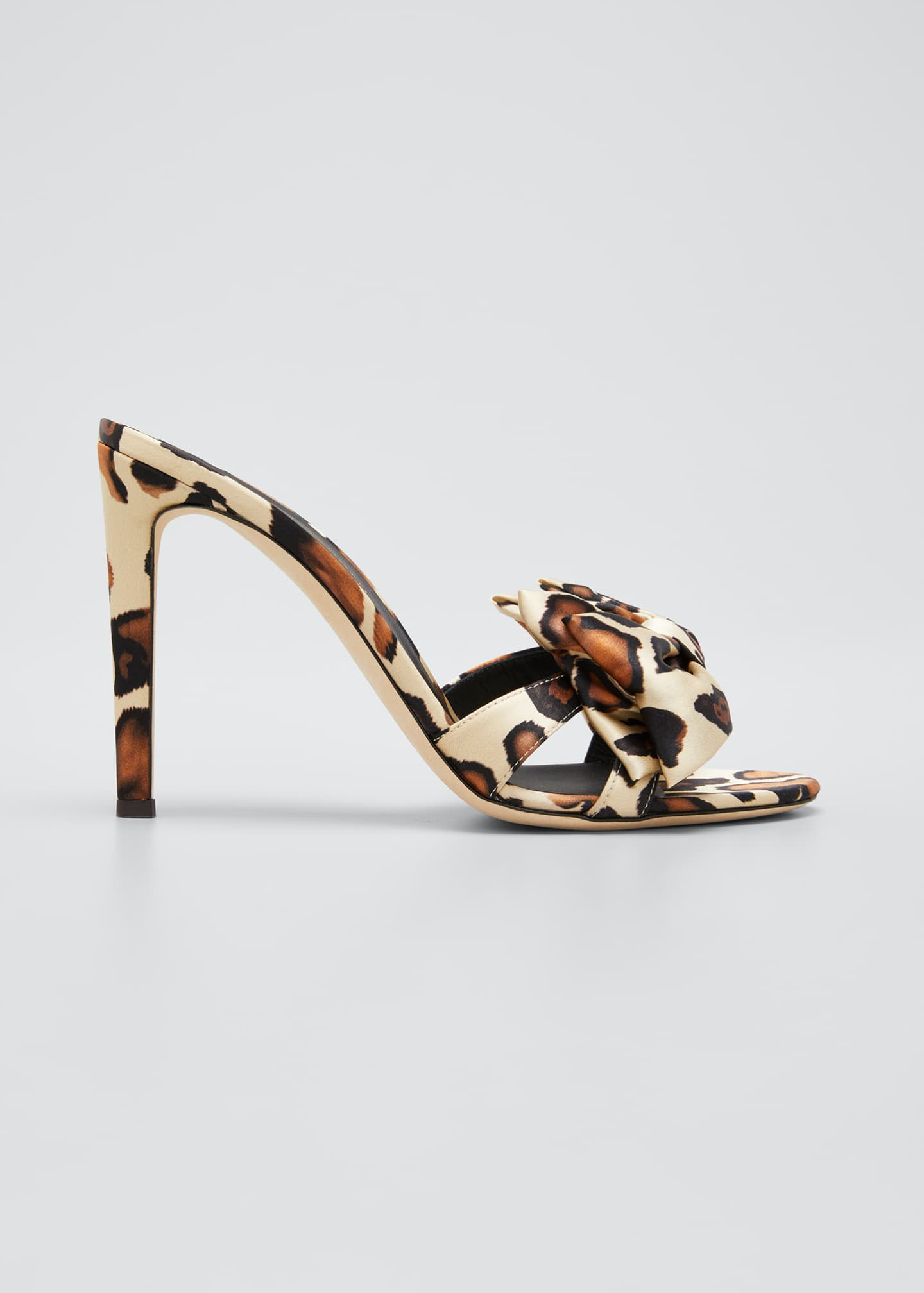 Image 1 of 5: 105mm Ricoperto Satin Bow Sandals