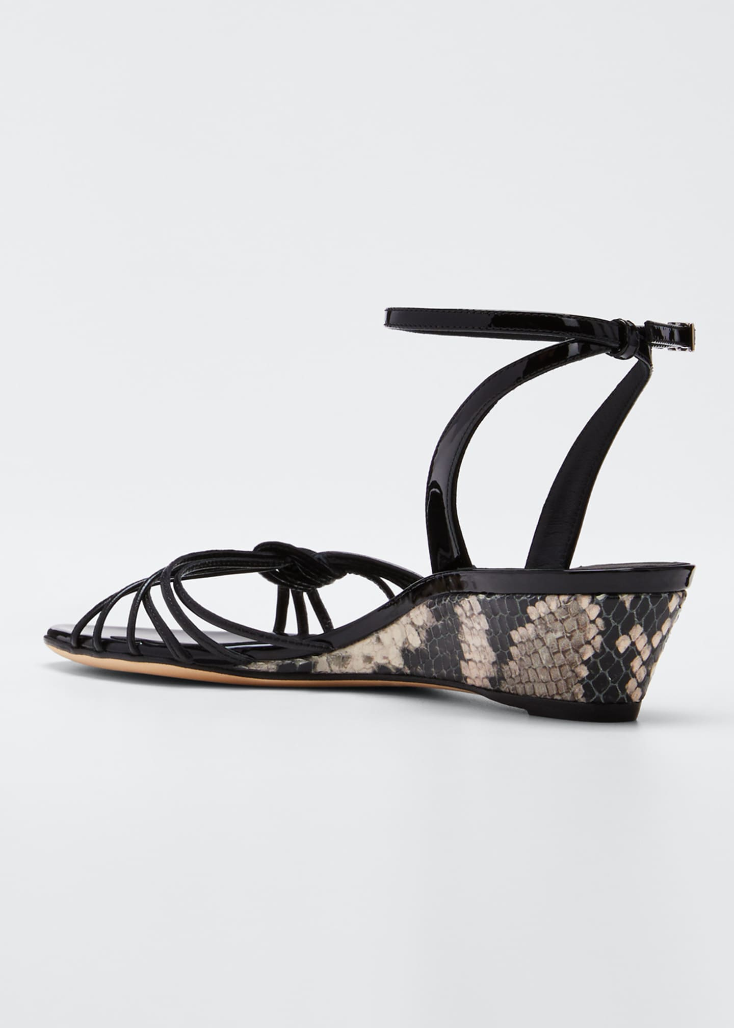 Image 4 of 5: 30mm Ricoperto Snake Wedge Sandals