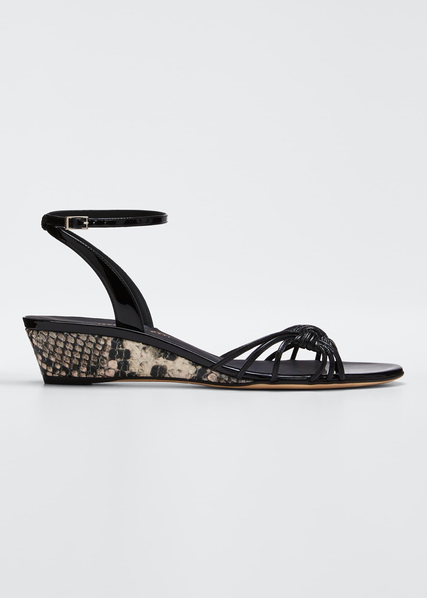 Image 1 of 5: 30mm Ricoperto Snake Wedge Sandals