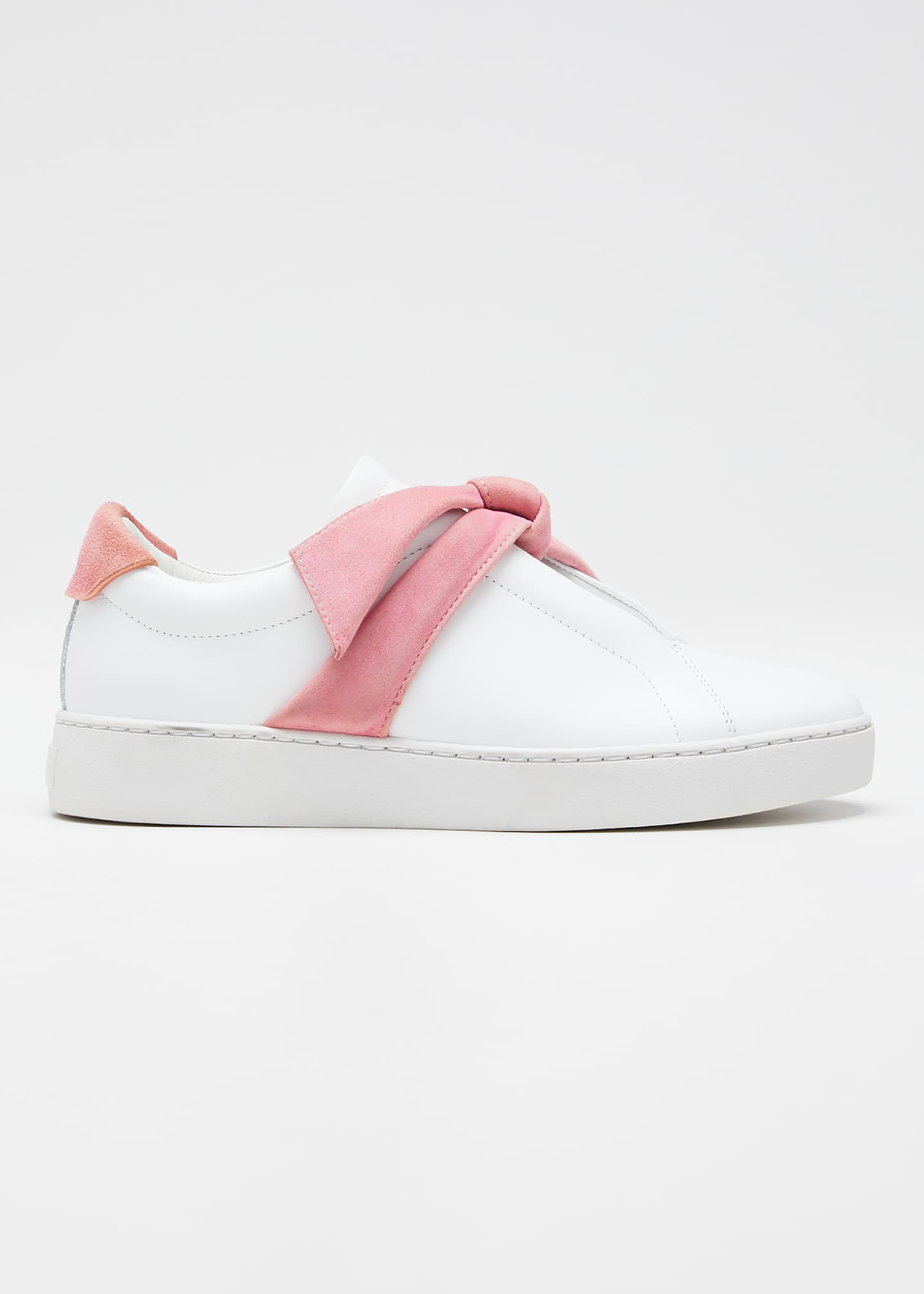 Alexandre Birman Clarita Two-Tone Knotted Bow Sneakers