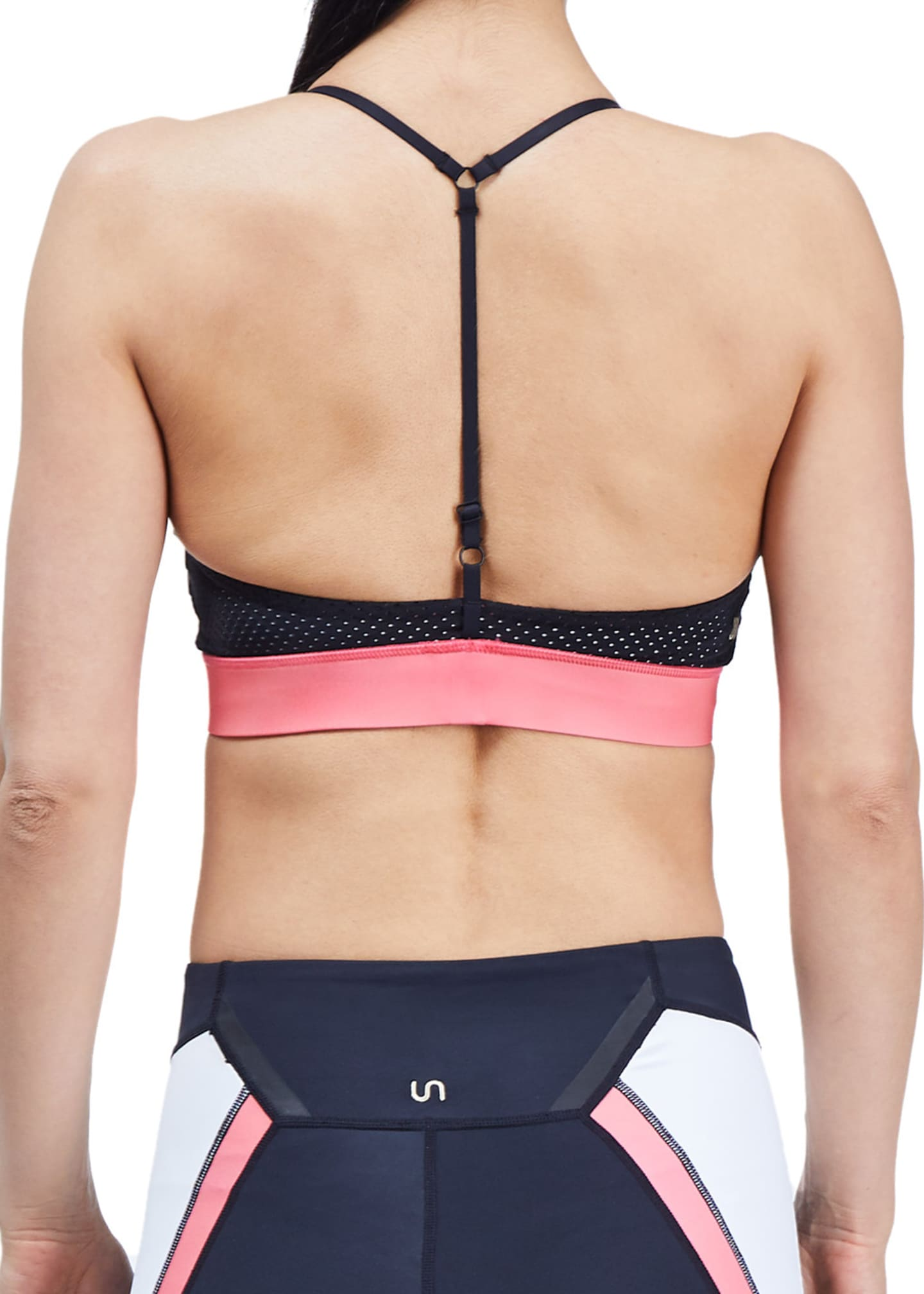 Image 3 of 3: Calatrava T-Back Mesh Sports Bra