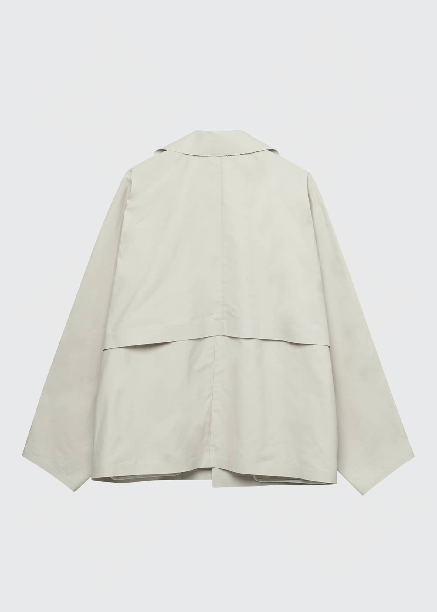 Image 2 of 2: Convertible Cape Trench Jacket