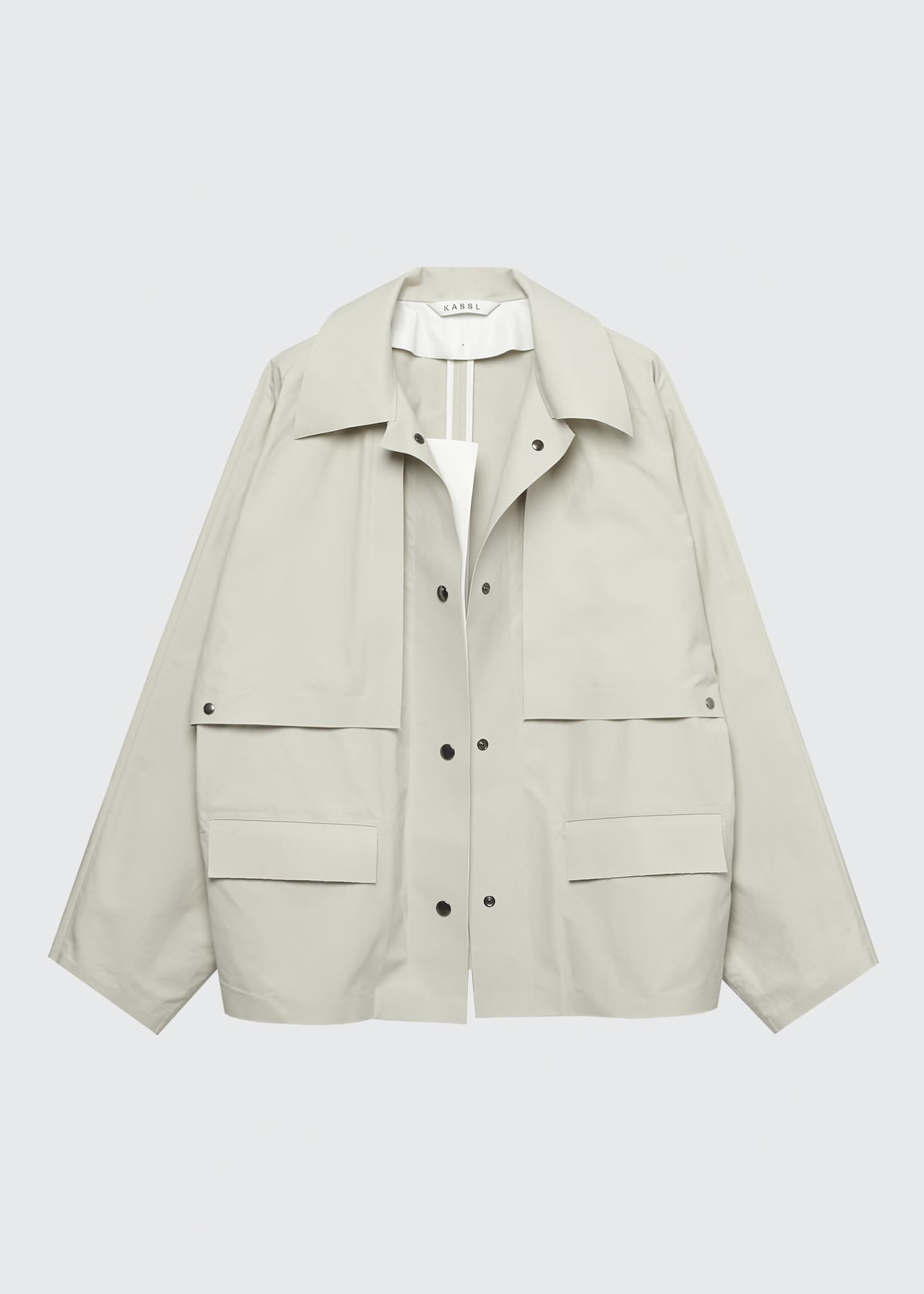 Image 1 of 2: Convertible Cape Trench Jacket