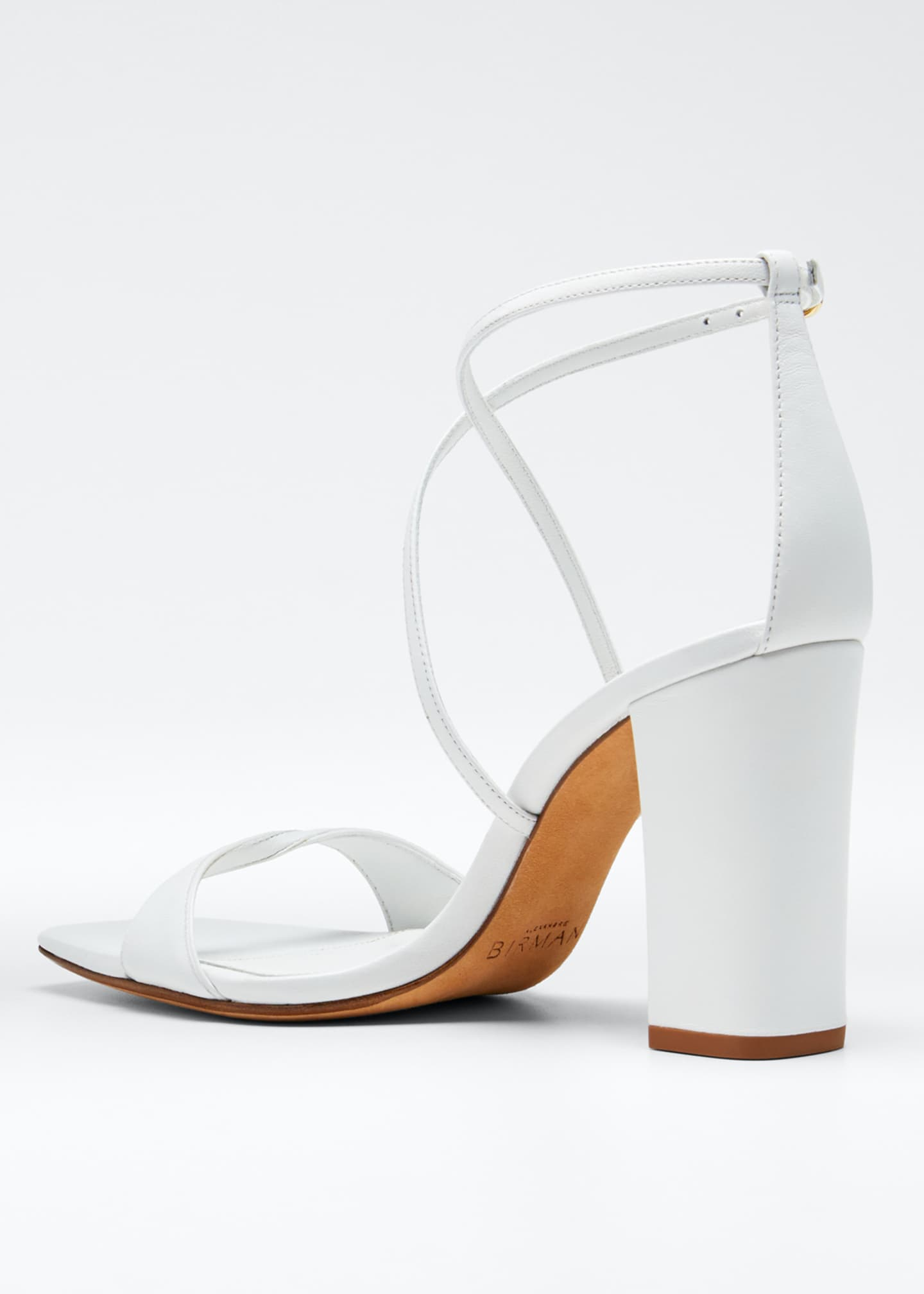 Image 4 of 5: Miki Ankle-Strap Napa Slide Sandals