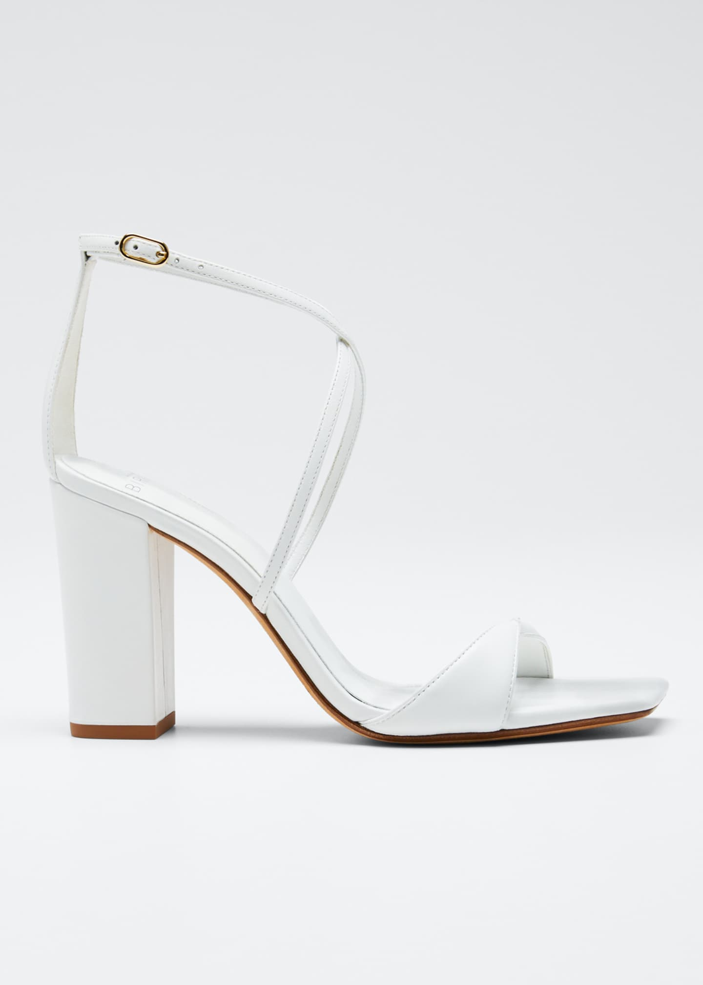 Image 1 of 5: Miki Ankle-Strap Napa Slide Sandals