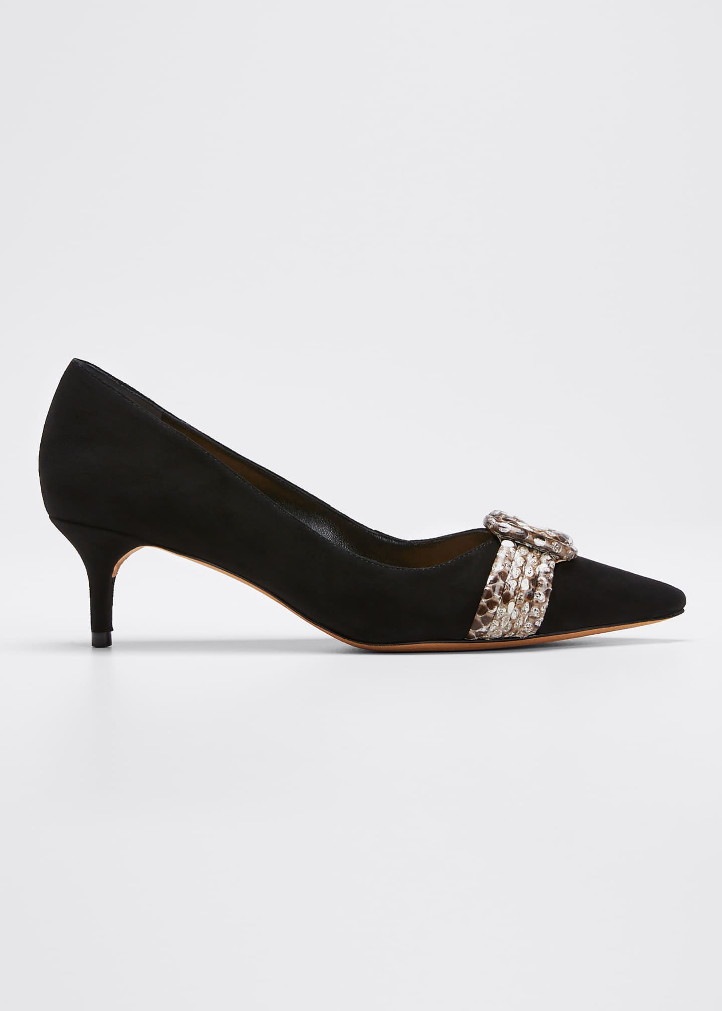 Alexandre Birman Vicky Kitten-Heel Pumps with Python