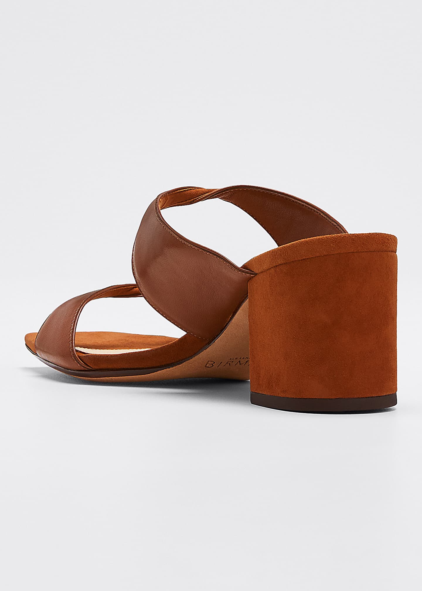 Image 4 of 5: Miki Suede/Leather Twist Slide Sandals