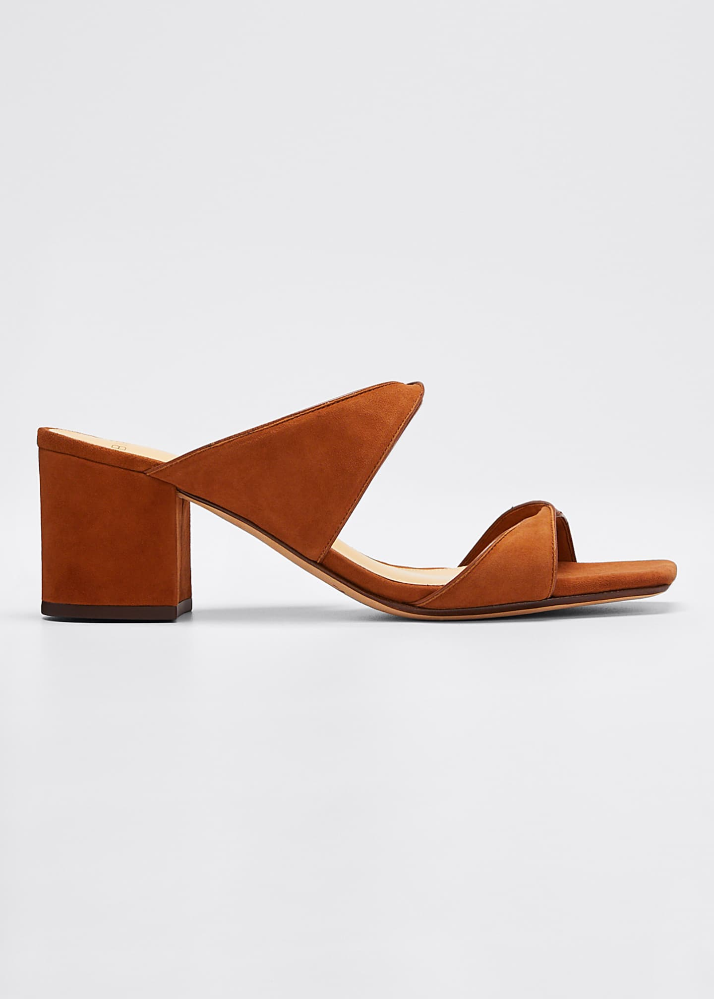 Image 1 of 5: Miki Suede/Leather Twist Slide Sandals