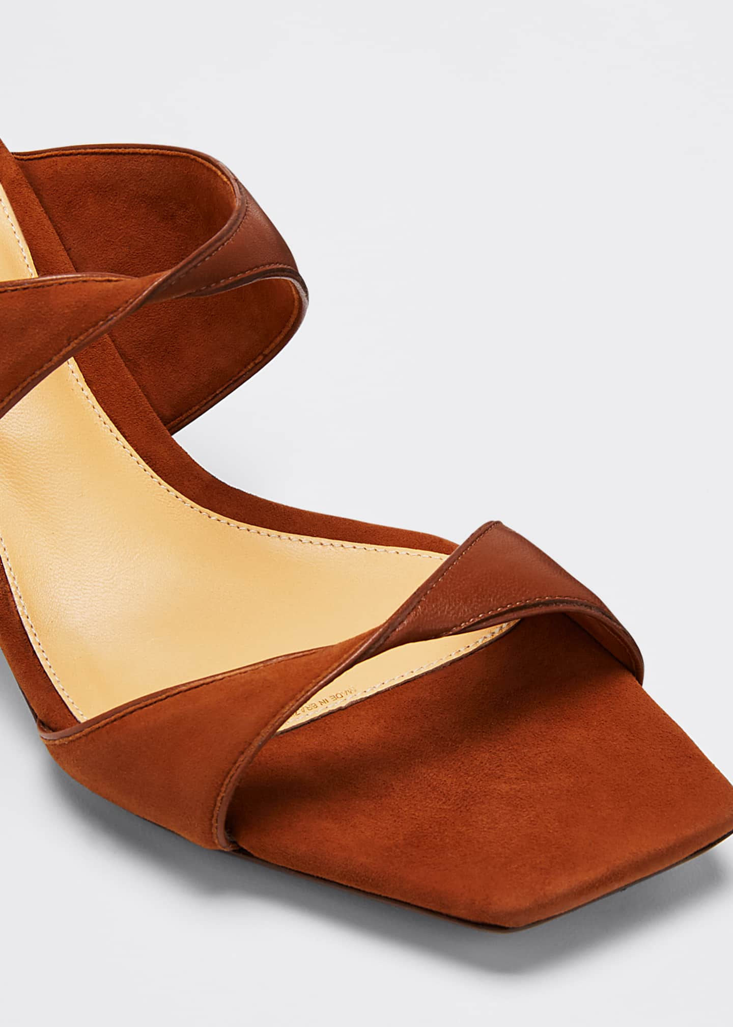 Image 5 of 5: Miki Suede/Leather Twist Slide Sandals