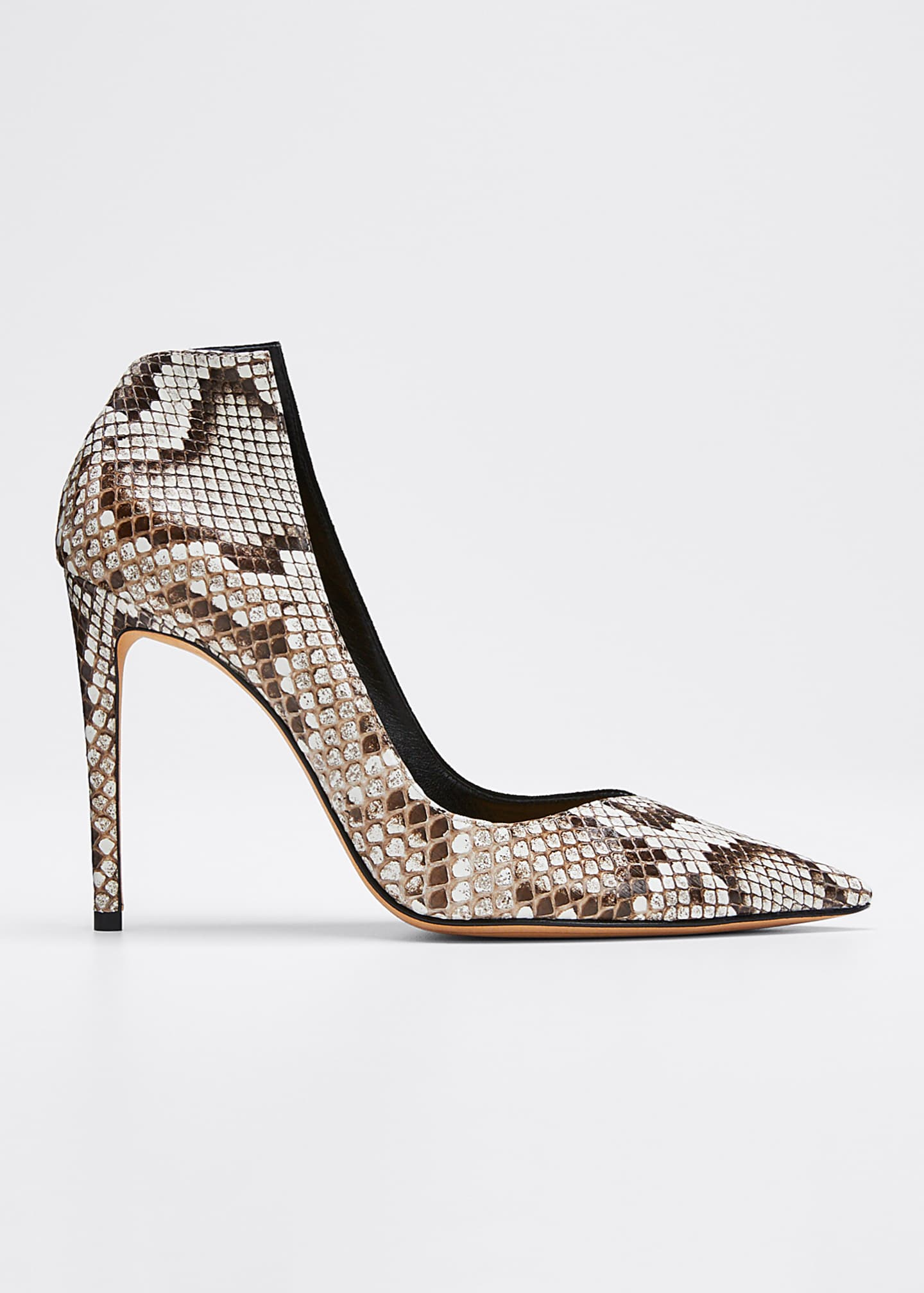 Alexandre Birman Megan Python and Suede High Pumps