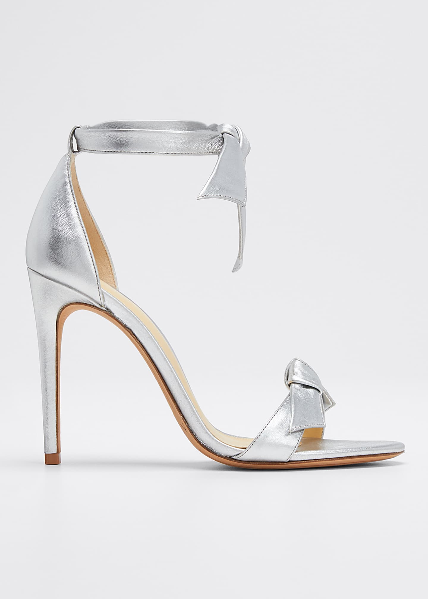 Alexandre Birman Clarita Tie Metallic Leather Sandals