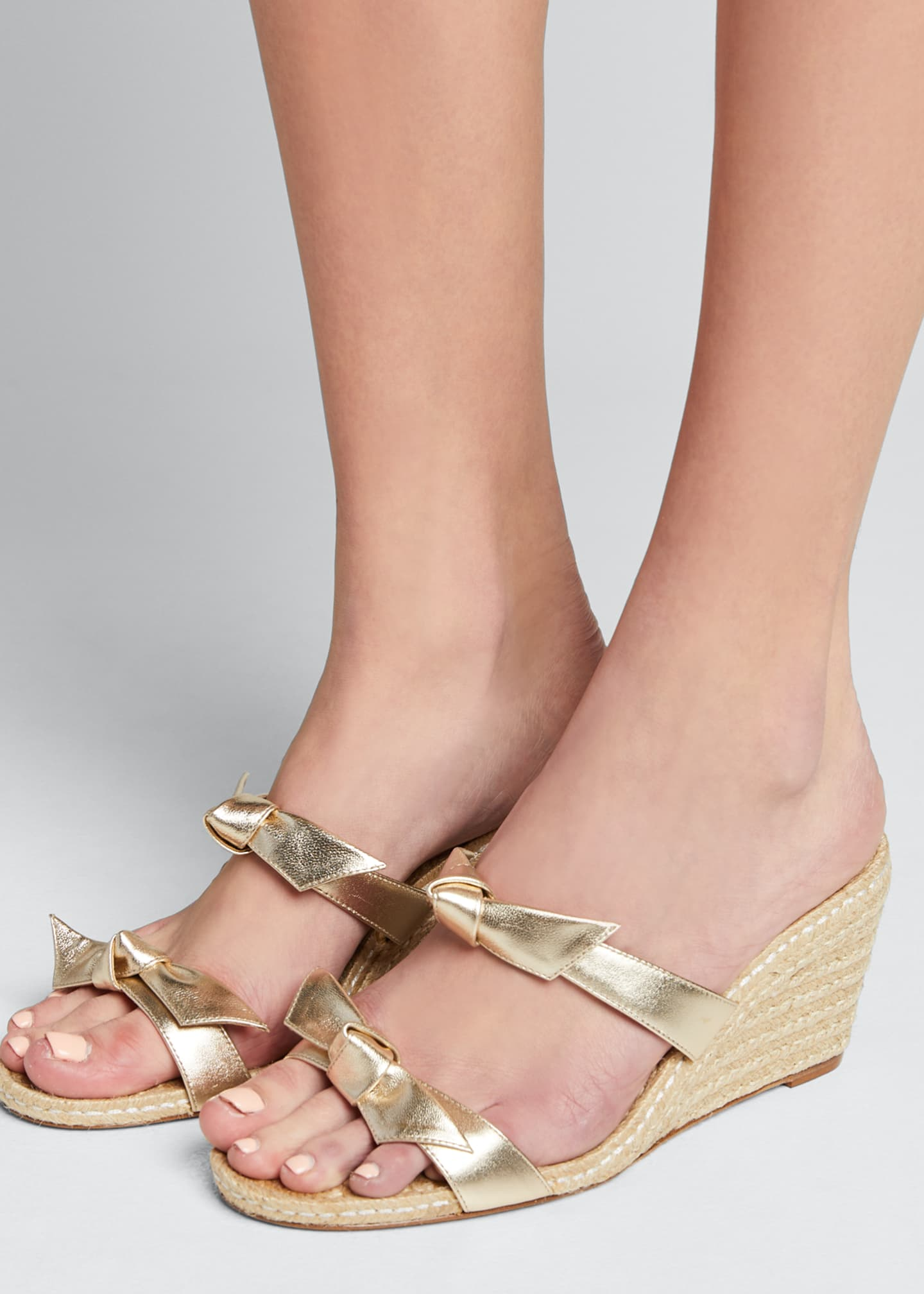 Image 2 of 5: Clarita Braided Wedge Sandals