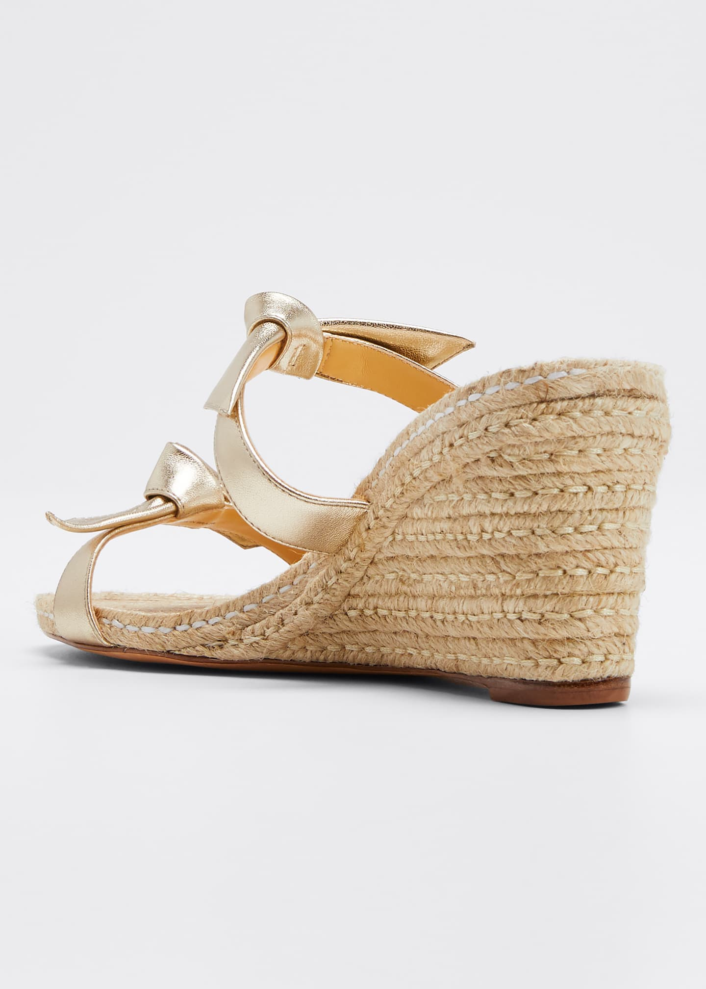 Image 4 of 5: Clarita Braided Wedge Sandals