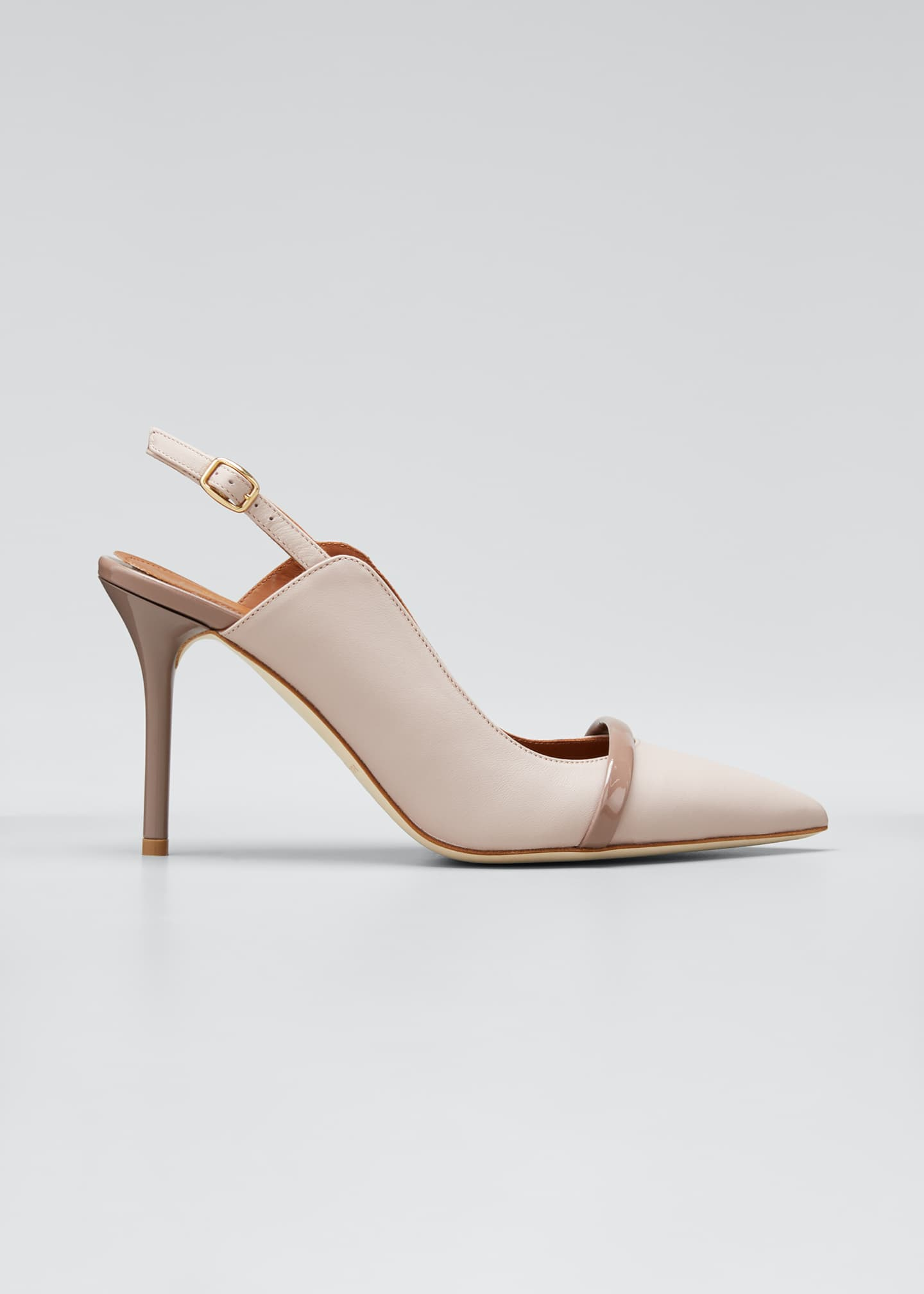 Image 1 of 5: Marion 85mm Leather Slingback Pumps