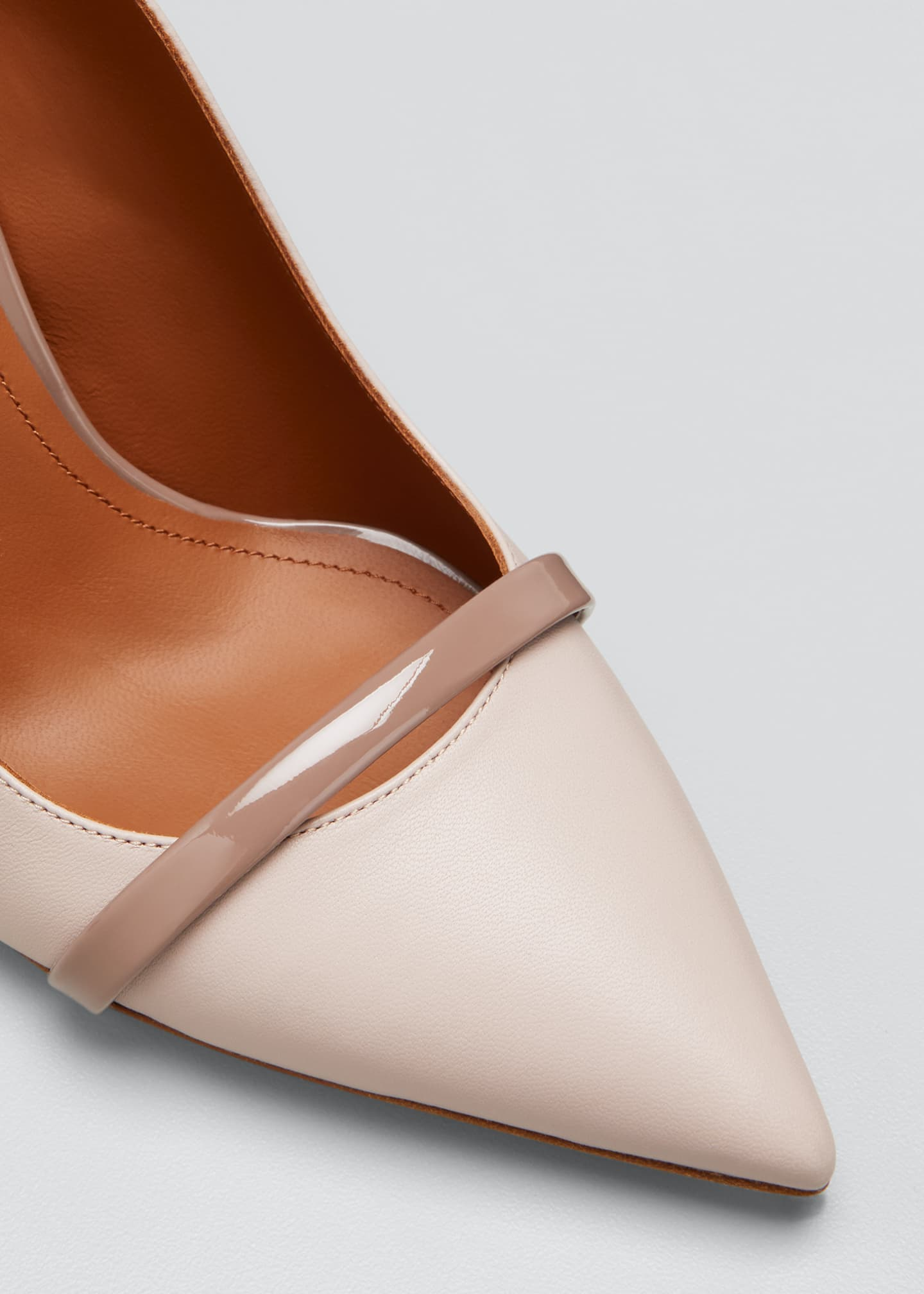 Image 5 of 5: Marion 85mm Leather Slingback Pumps