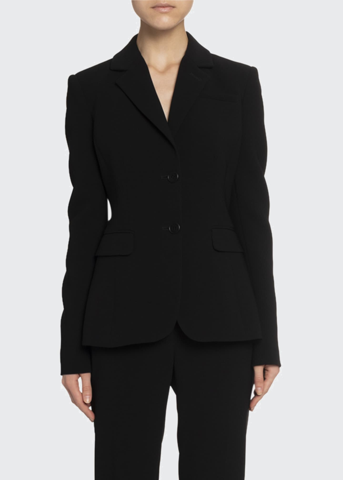 Image 1 of 2: Crepe Two-Button Blazer