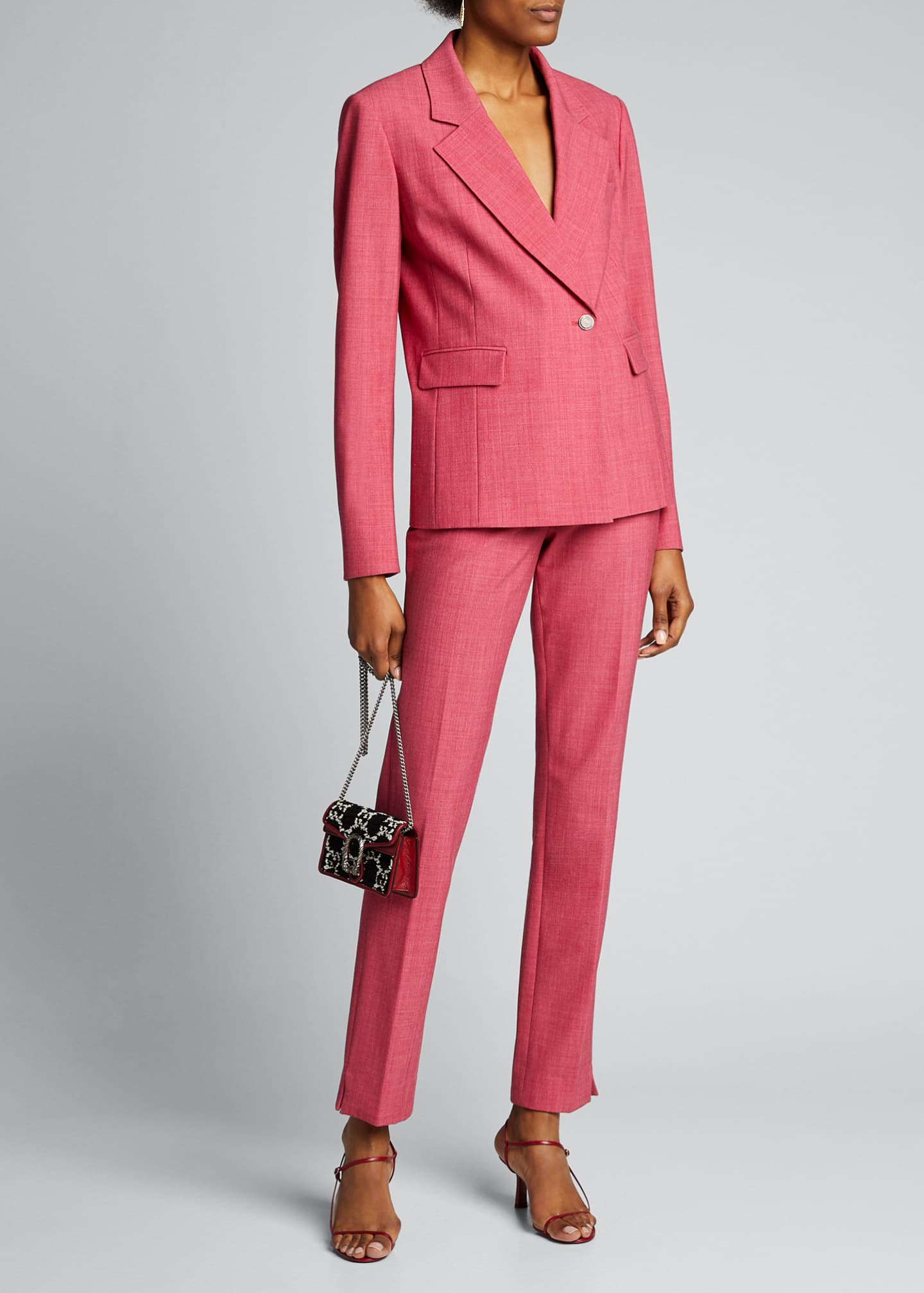 Jason Wu Crosshatch One-Button Suiting Jacket